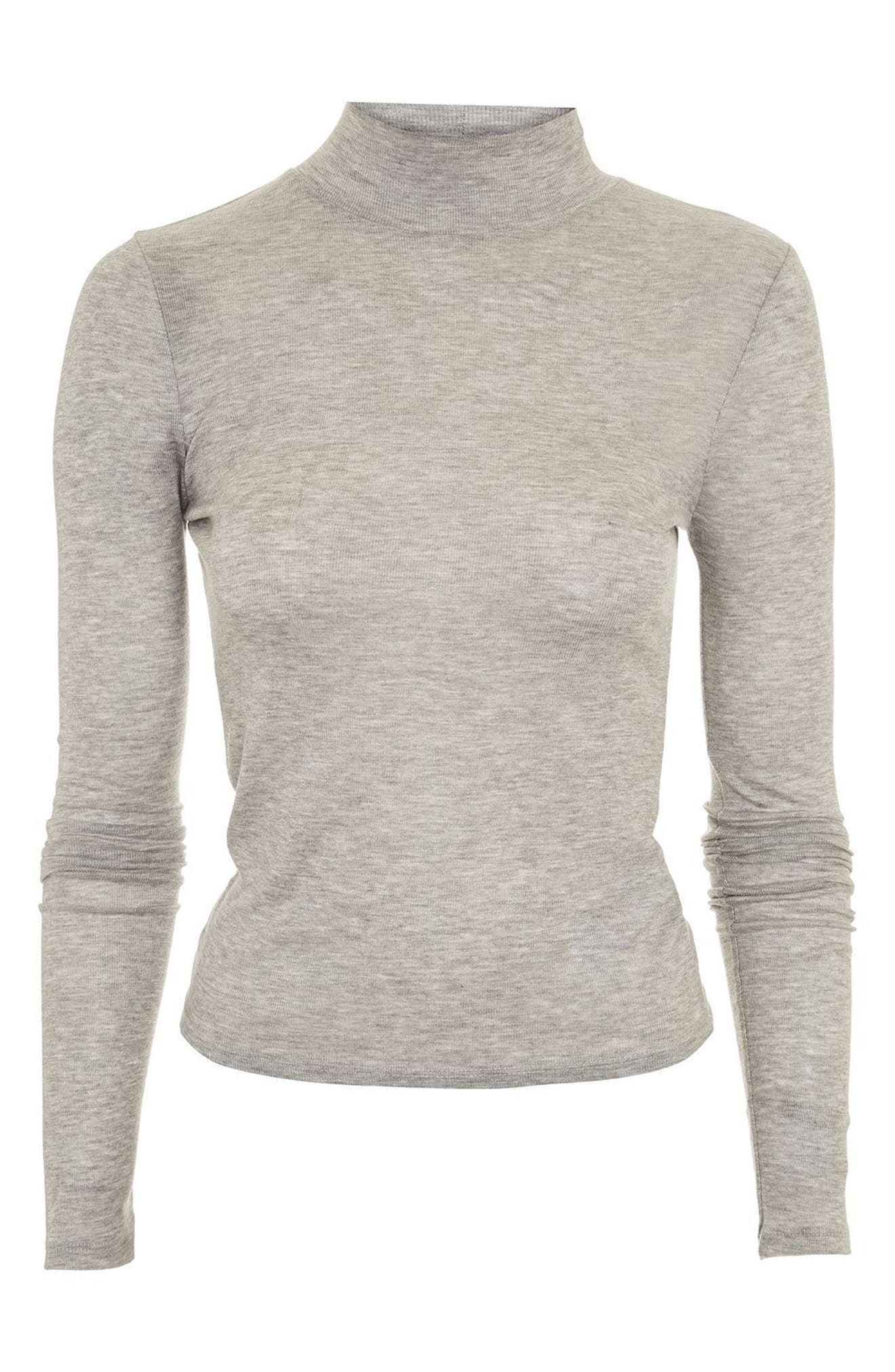 Ribbed Turtleneck Top,                             Alternate thumbnail 24, color,