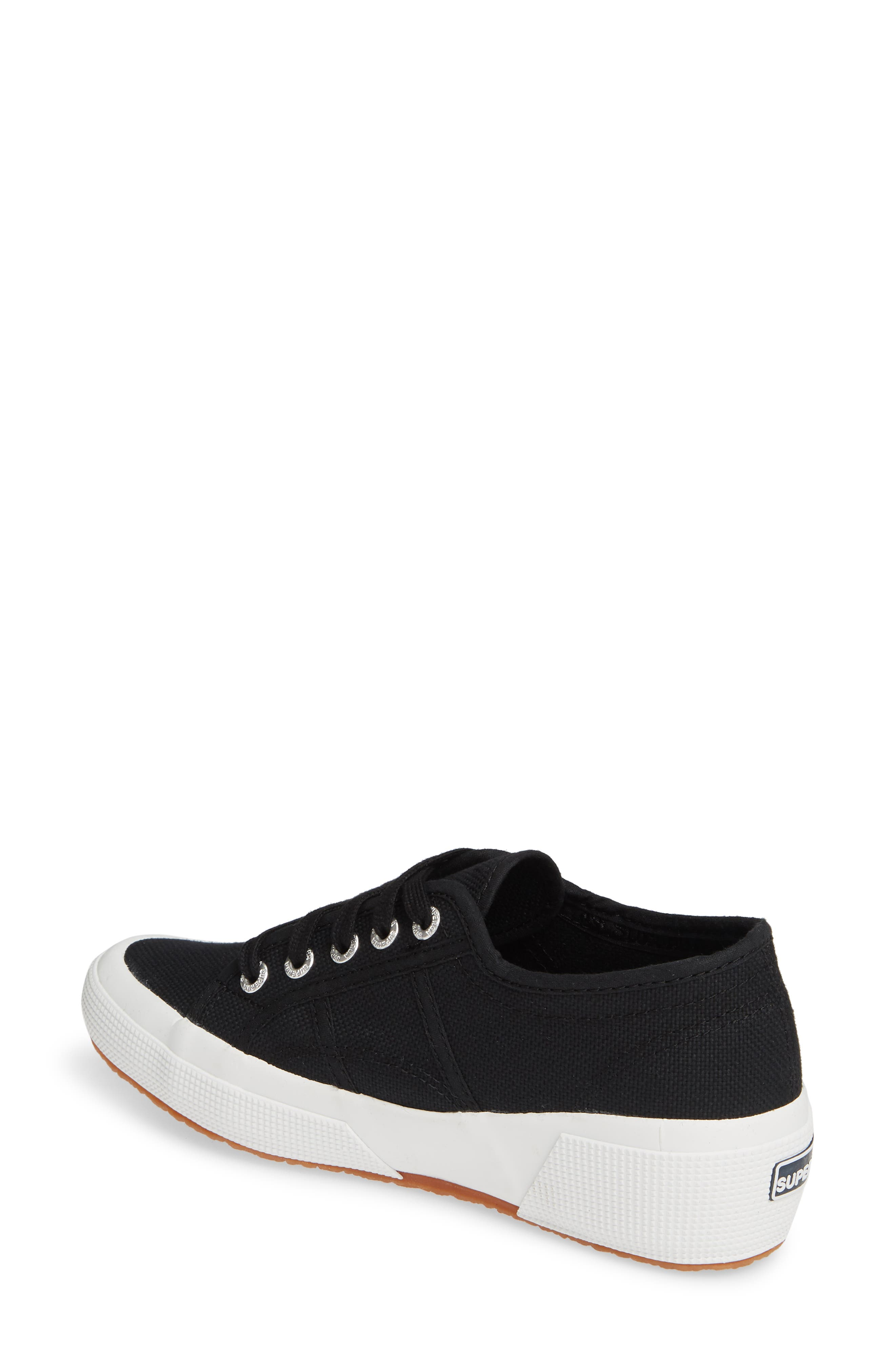 SUPERGA,                             'Linea' Wedge Sneaker,                             Alternate thumbnail 2, color,                             BLACK / WHITE