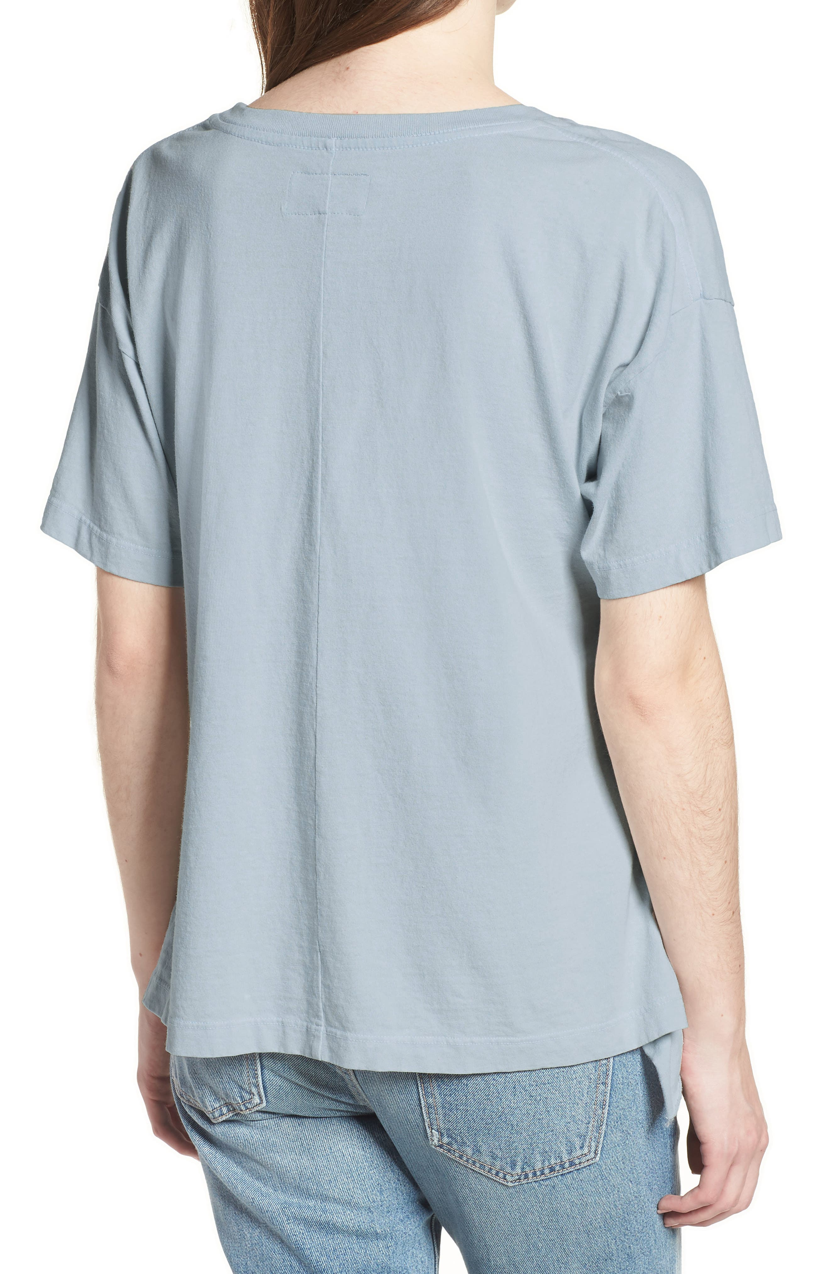 The Side Slit Ruffle Tee,                             Alternate thumbnail 2, color,                             459