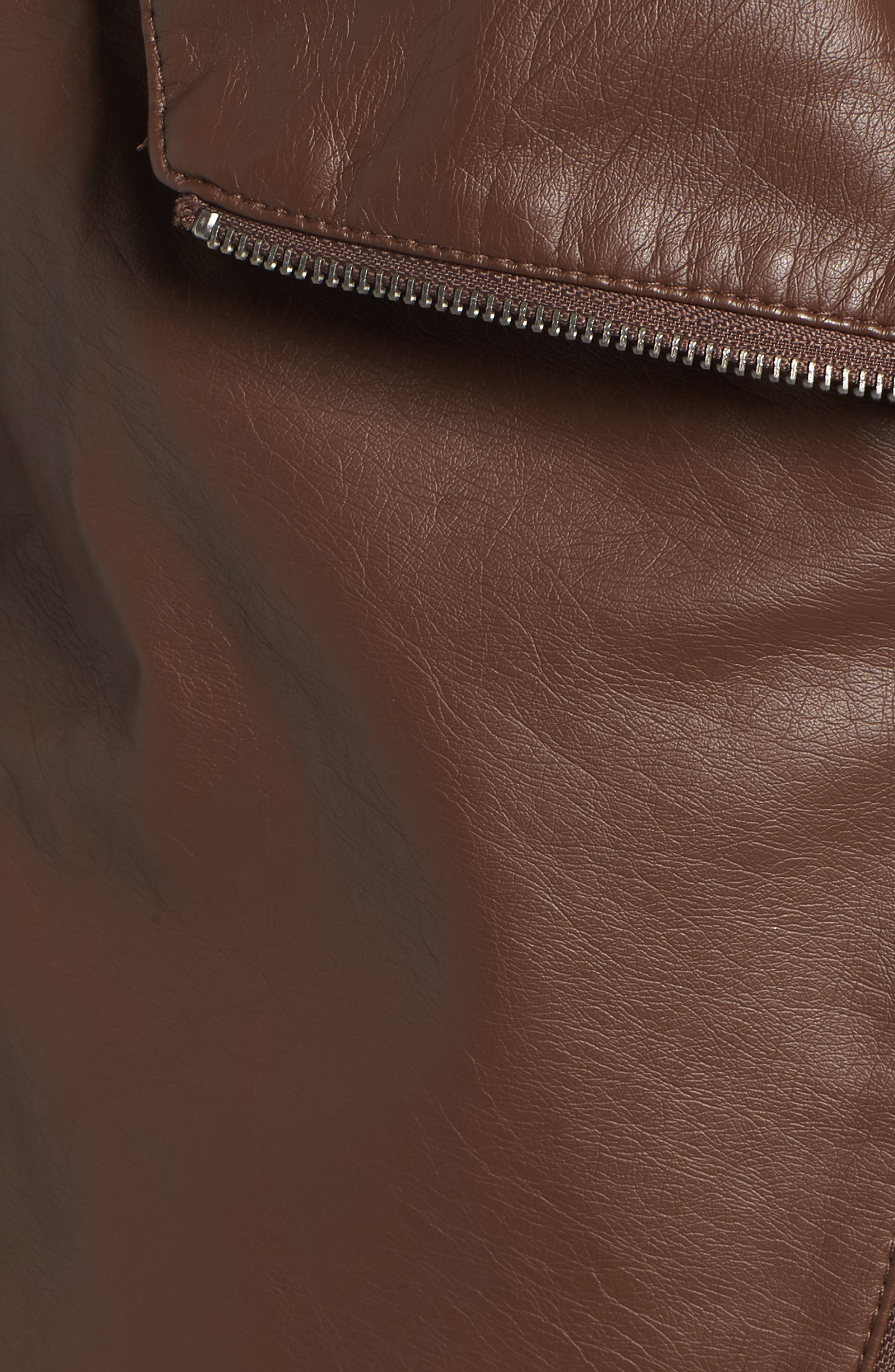 Gabrielle Faux Leather Asymmetrical Jacket,                             Alternate thumbnail 7, color,                             202