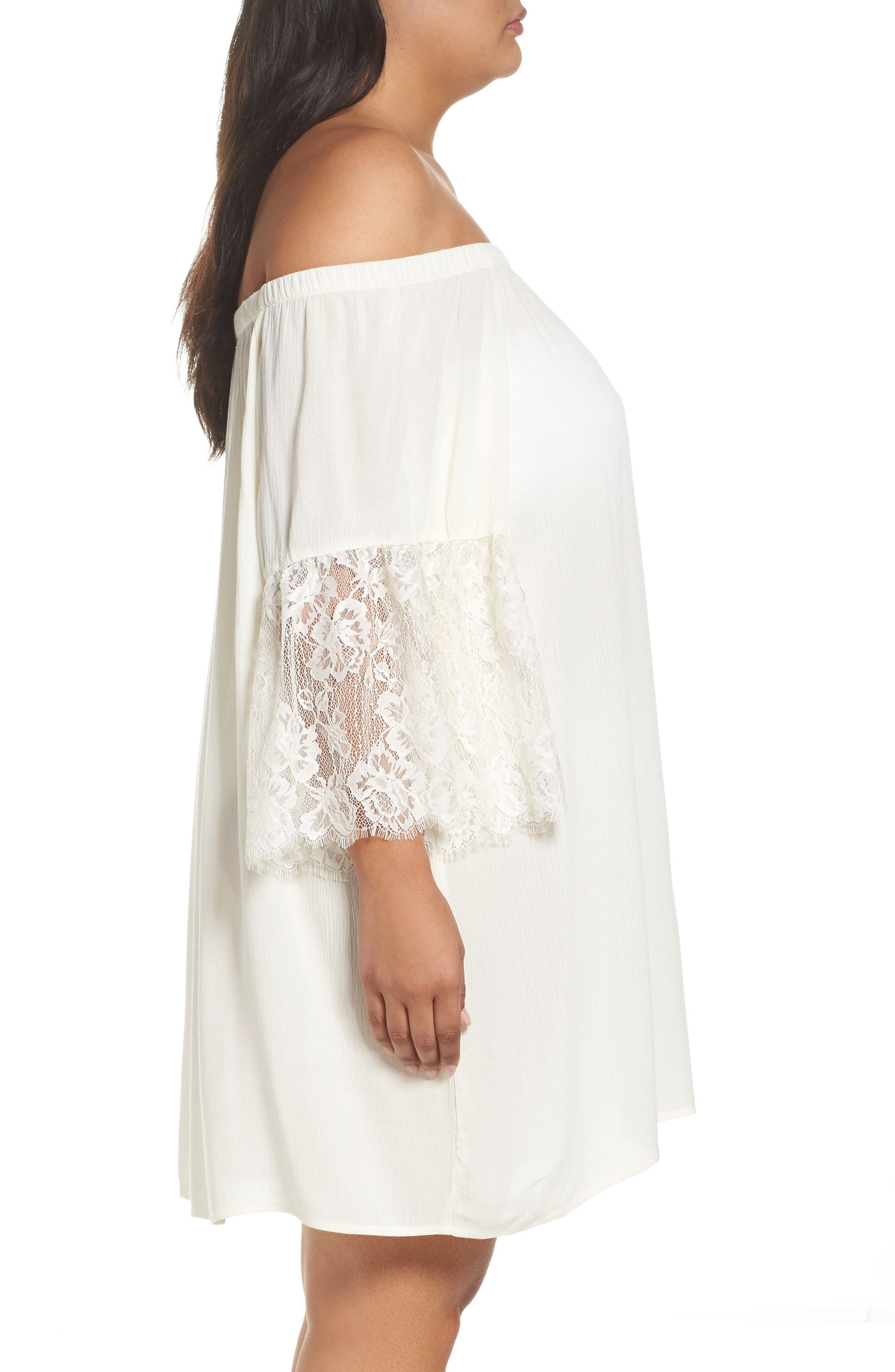 Off the Shoulder Cover-Up,                             Alternate thumbnail 6, color,
