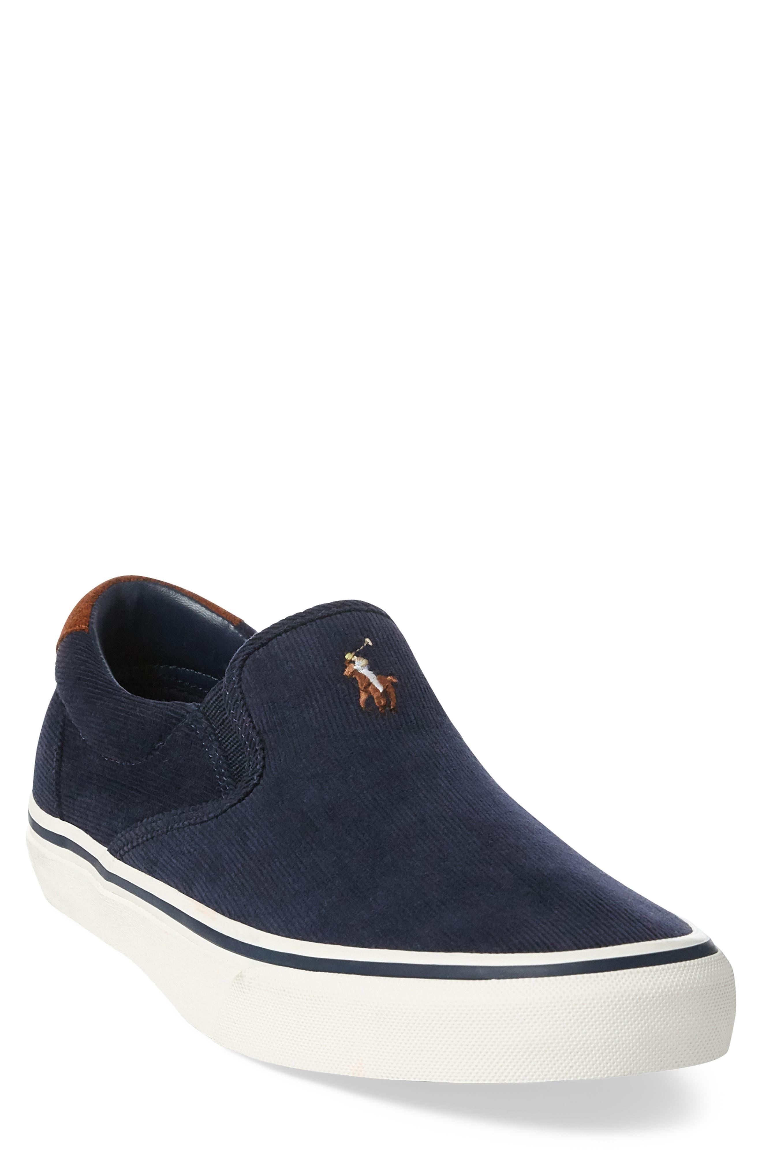 Thompson Corduroy Slip-On Sneaker,                             Main thumbnail 1, color,                             NAVY