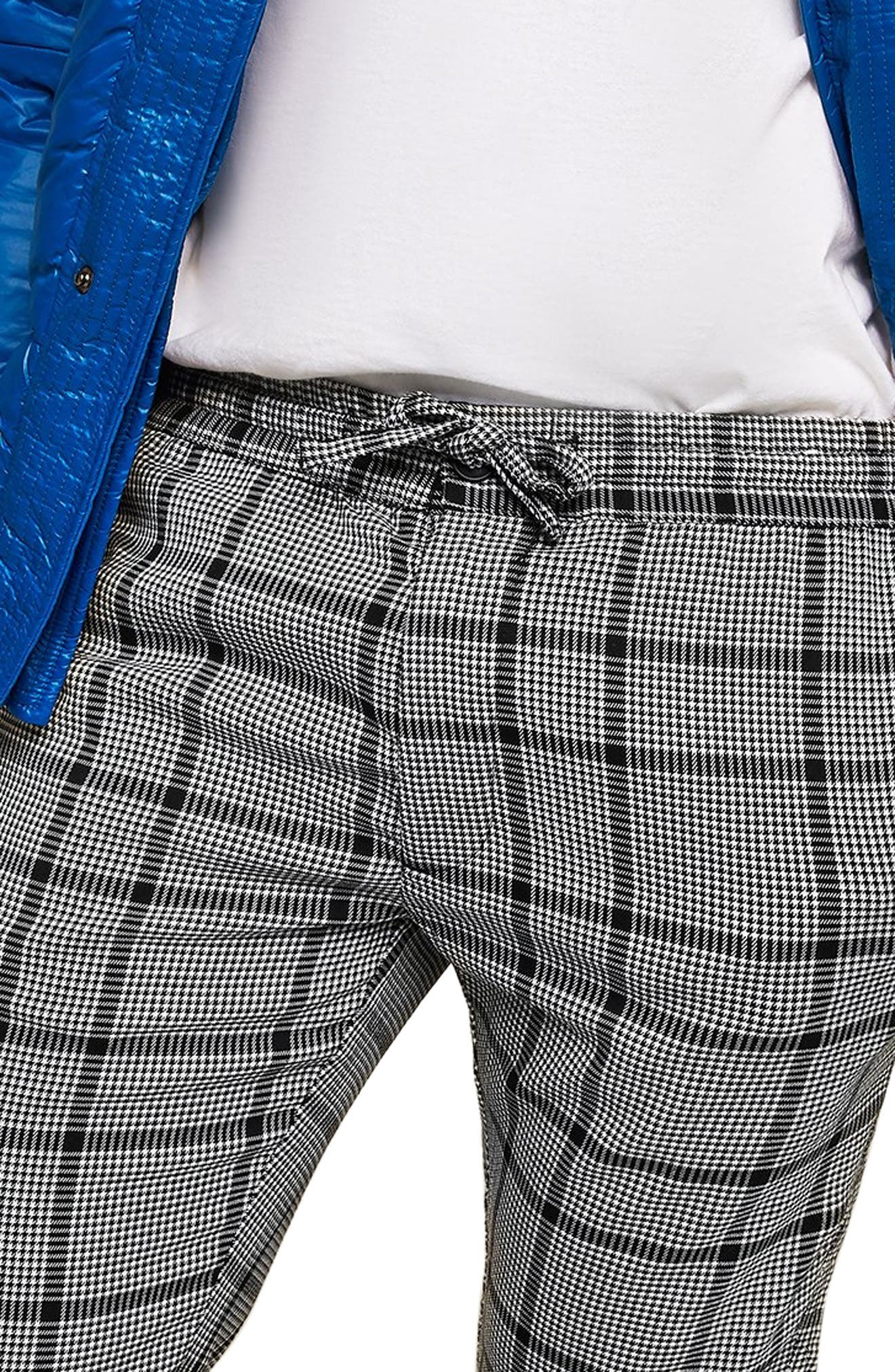 Dogtooth Check Woven Jogger Pants,                             Alternate thumbnail 3, color,                             GREY MULTI