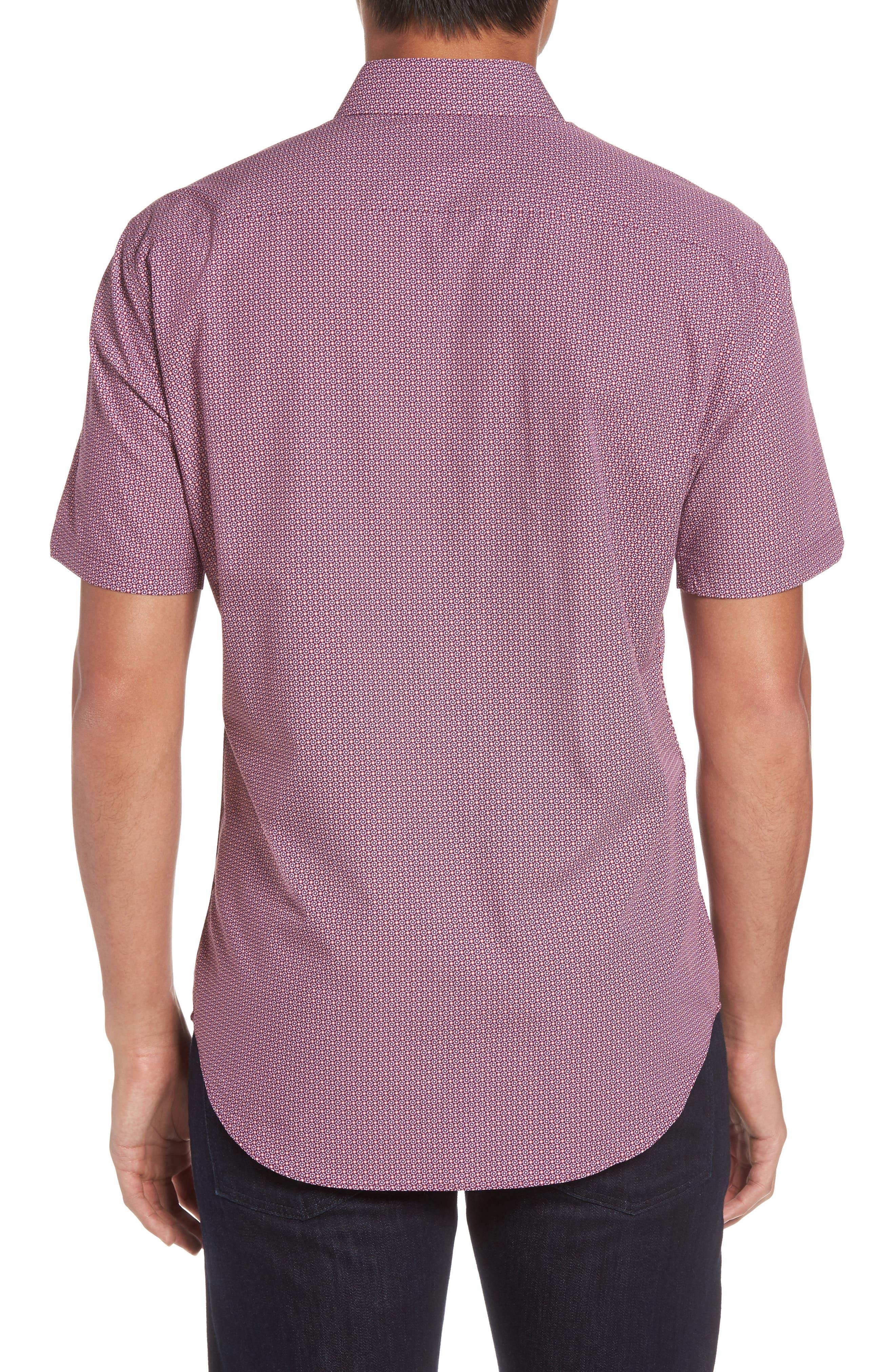 Riddle Slim Fit Print Sport Shirt,                             Alternate thumbnail 2, color,