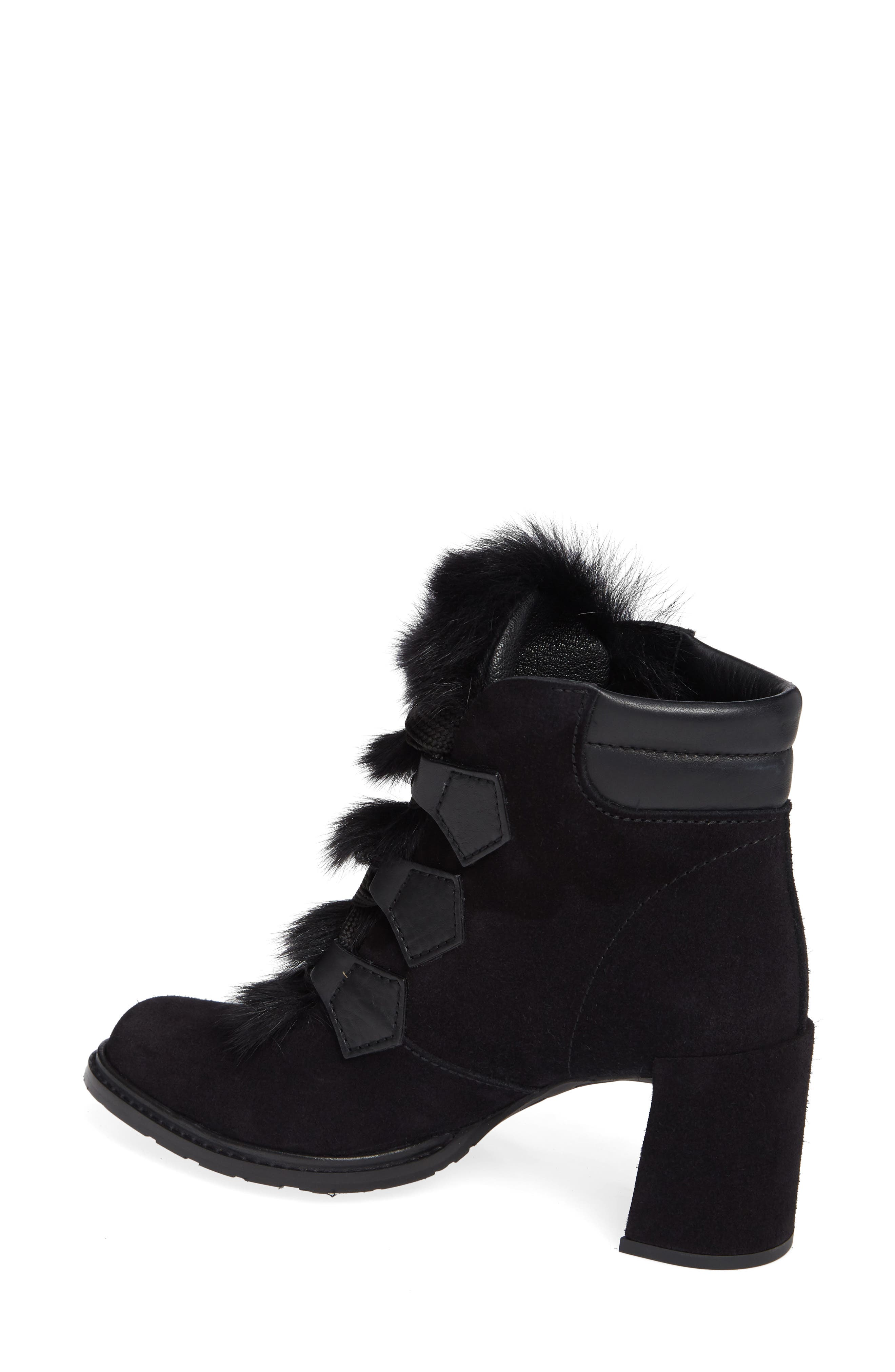 Wilmette Bootie with Genuine Shearling Trim,                             Alternate thumbnail 2, color,                             BLACK CHURRA