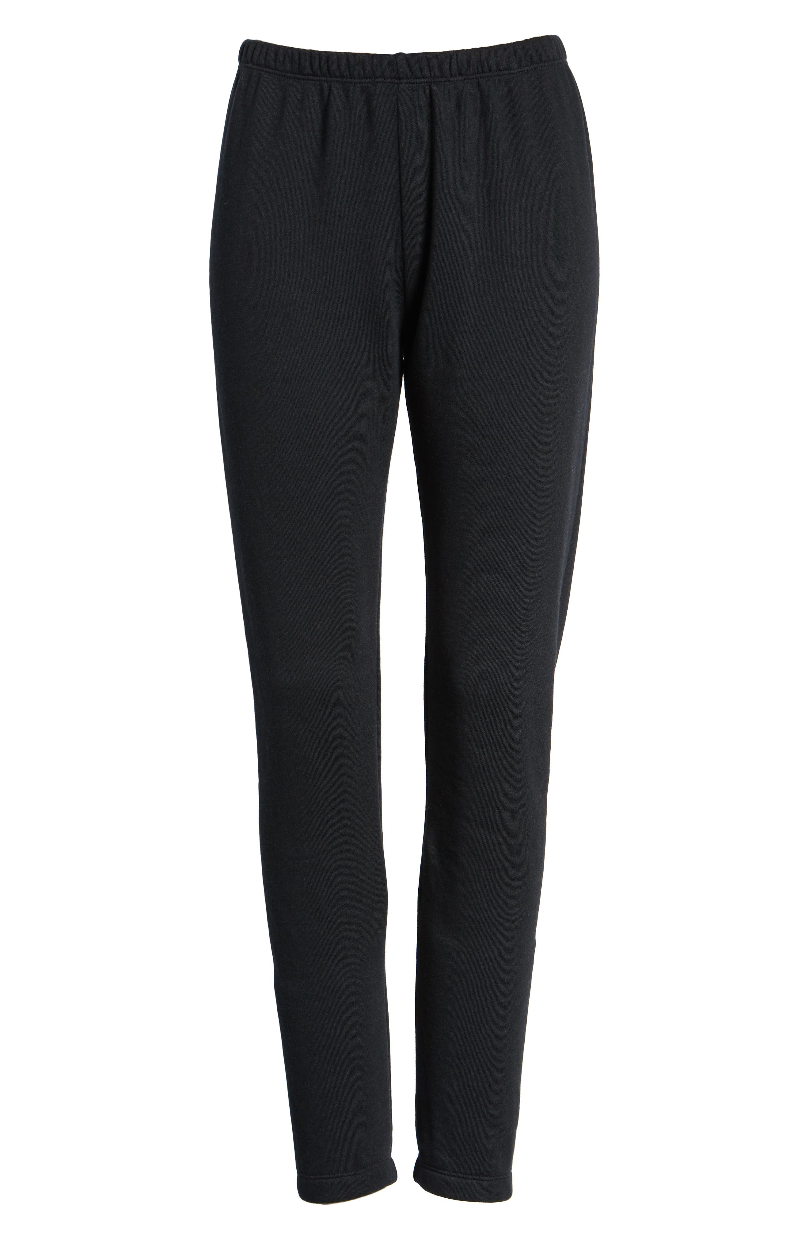 Knox Jogger Pants,                             Alternate thumbnail 7, color,                             JET BLACK