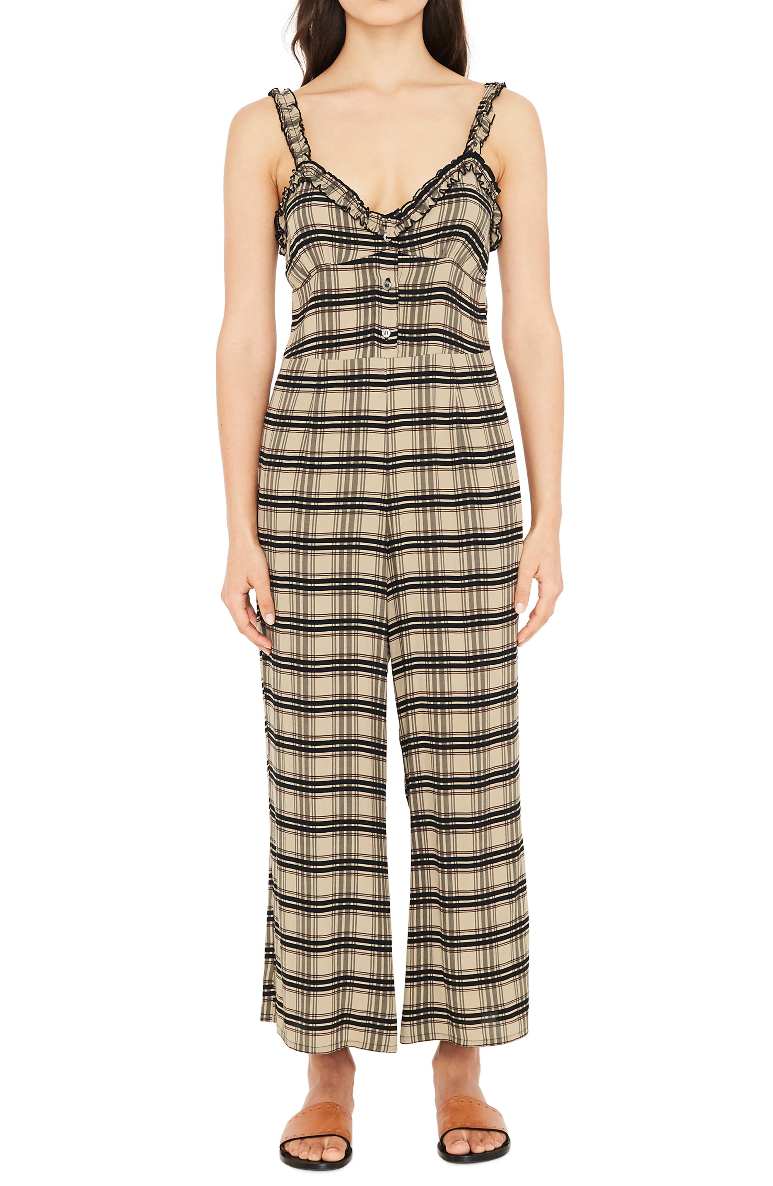 Cancun Plaid Jumpsuit,                             Main thumbnail 1, color,                             HILLARY PRINT