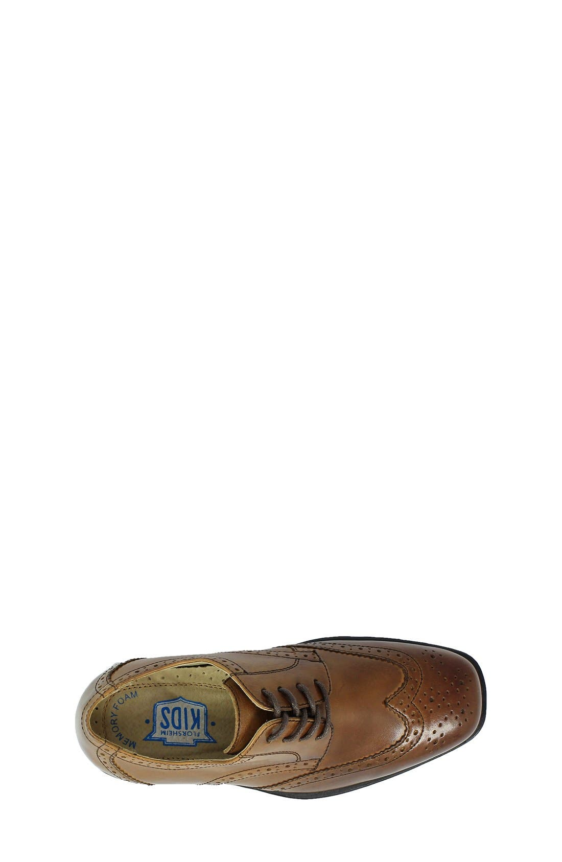 'Reveal' Wingtip Oxford,                             Alternate thumbnail 5, color,                             COGNAC LEATHER