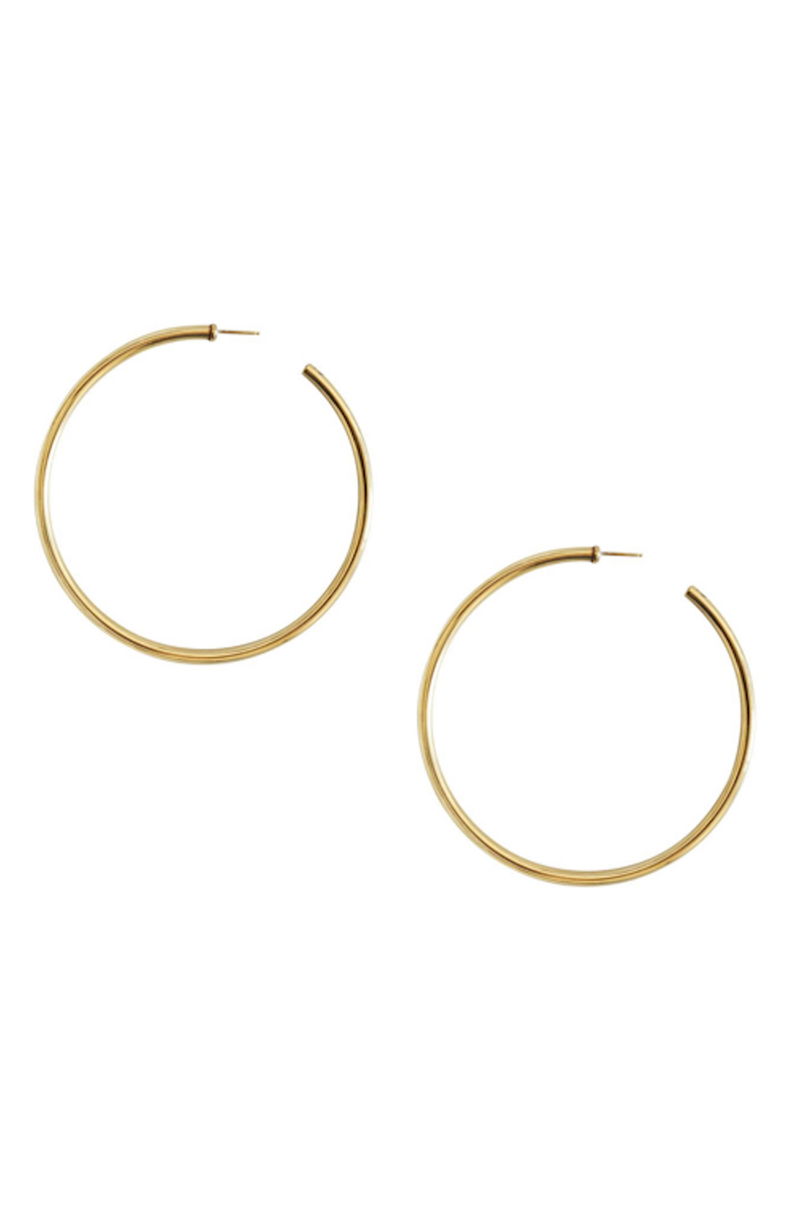 Extra-Large Classic Hoop Earrings,                         Main,                         color, BRASS
