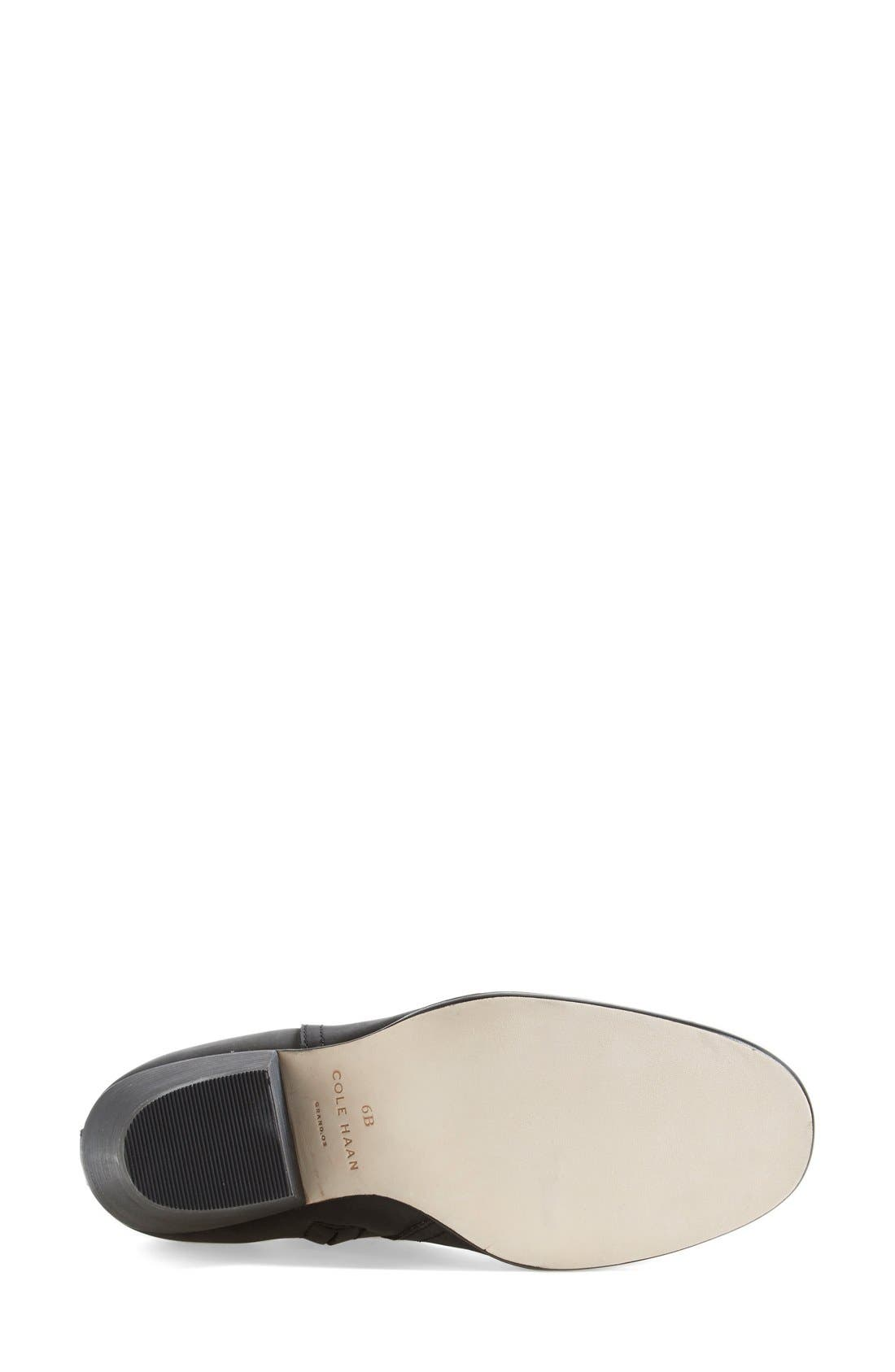 COLE HAAN,                             'Chesney' Round Toe Bootie,                             Alternate thumbnail 4, color,                             001