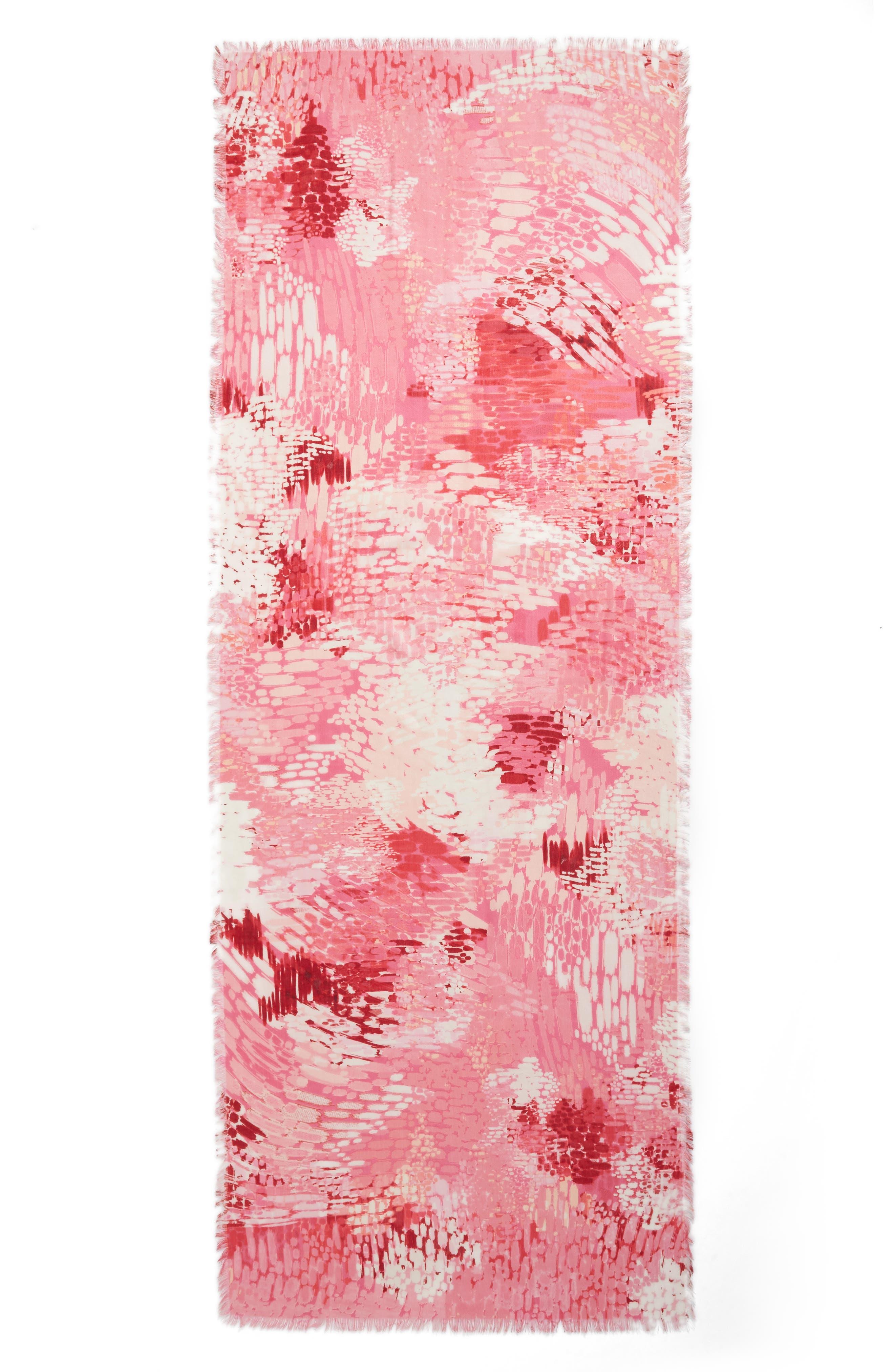 Eyelash Trim Print Cashmere & Silk Wrap,                             Alternate thumbnail 89, color,