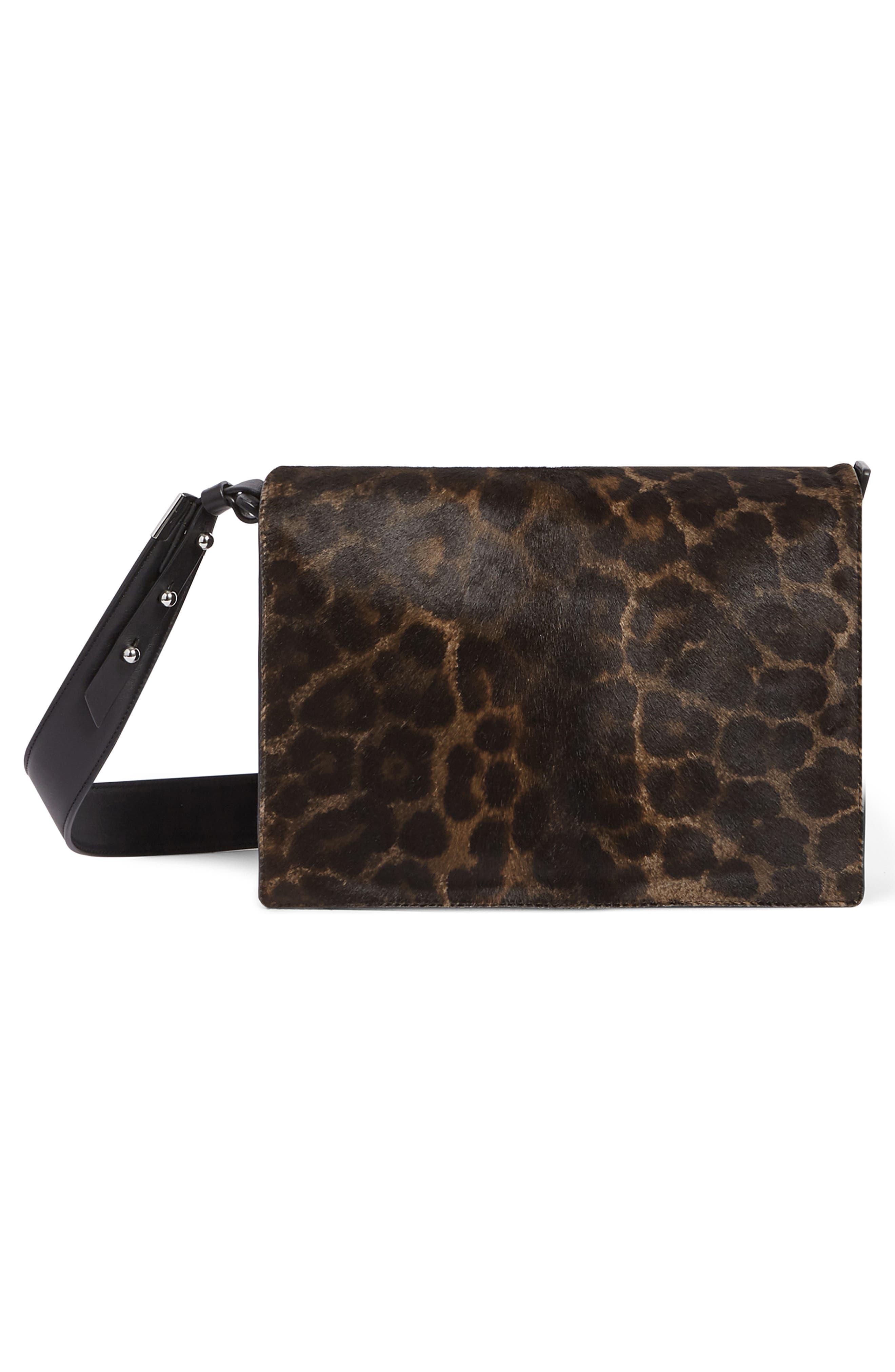 Vincent Genuine Calf Hair Shoulder Bag,                             Alternate thumbnail 2, color,                             LEOPARD/ BLACK