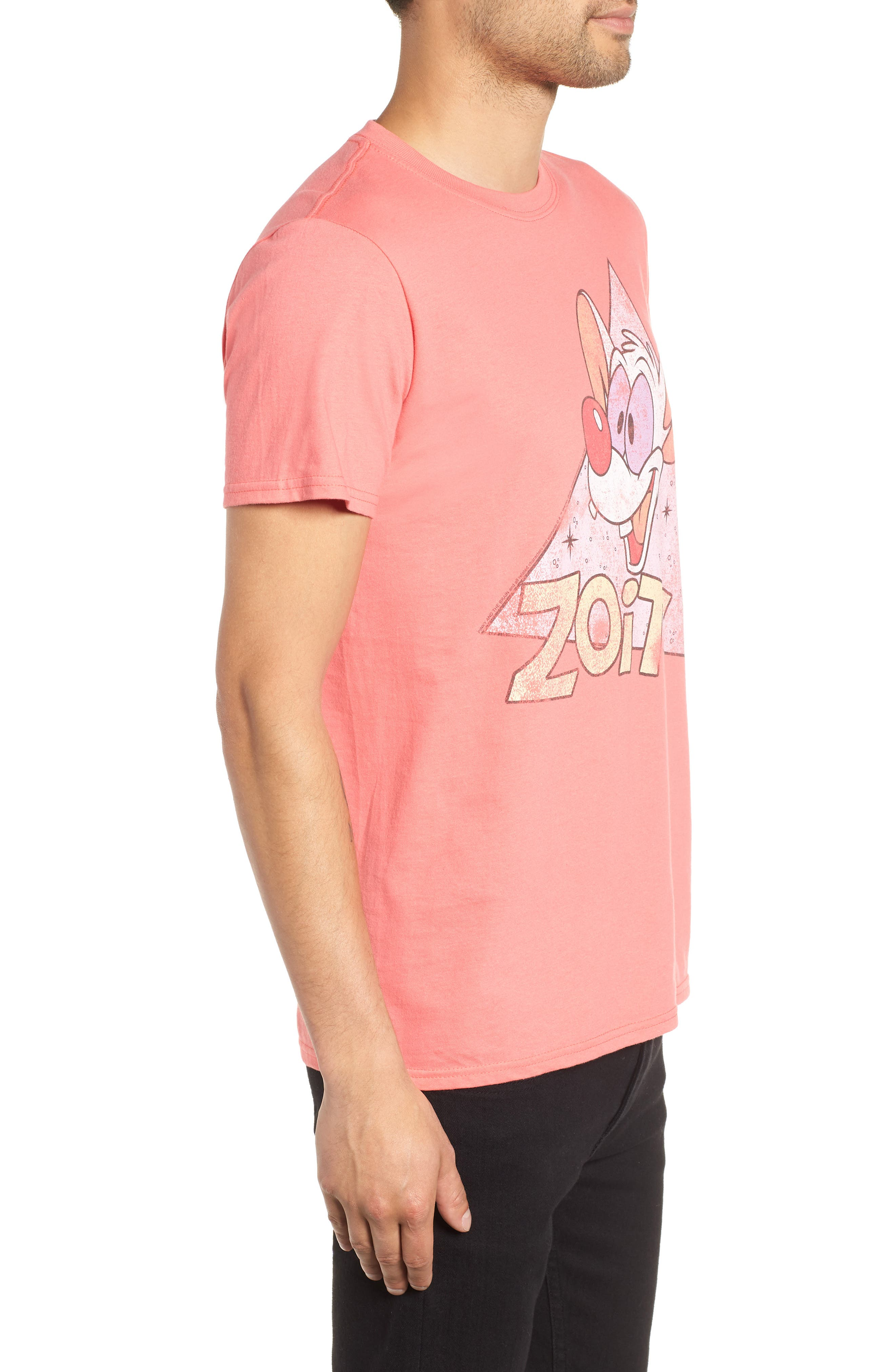 Zoit Graphic T-Shirt,                             Alternate thumbnail 3, color,                             CORAL ZOIT