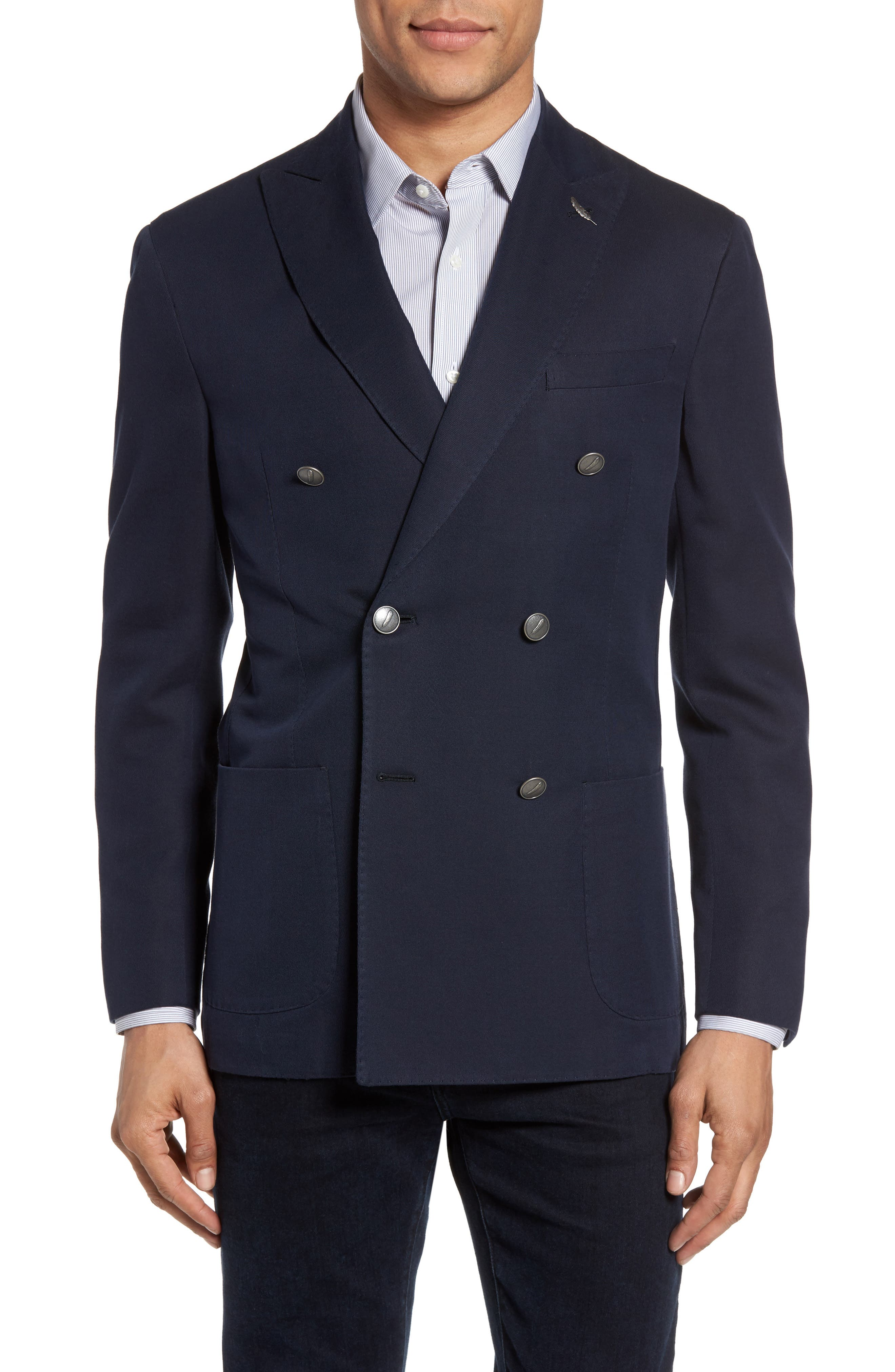 Classic Fit Double Breasted Blazer,                             Main thumbnail 1, color,
