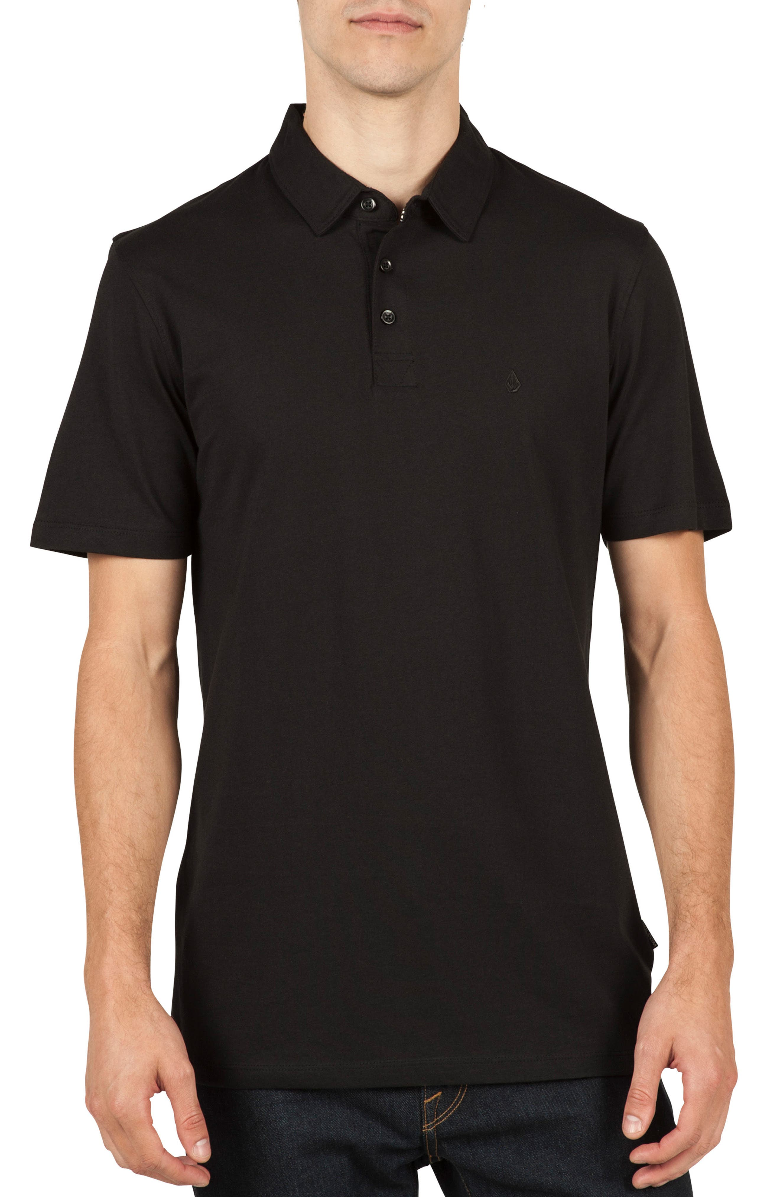Wowzer Polo,                             Main thumbnail 1, color,                             BLACK