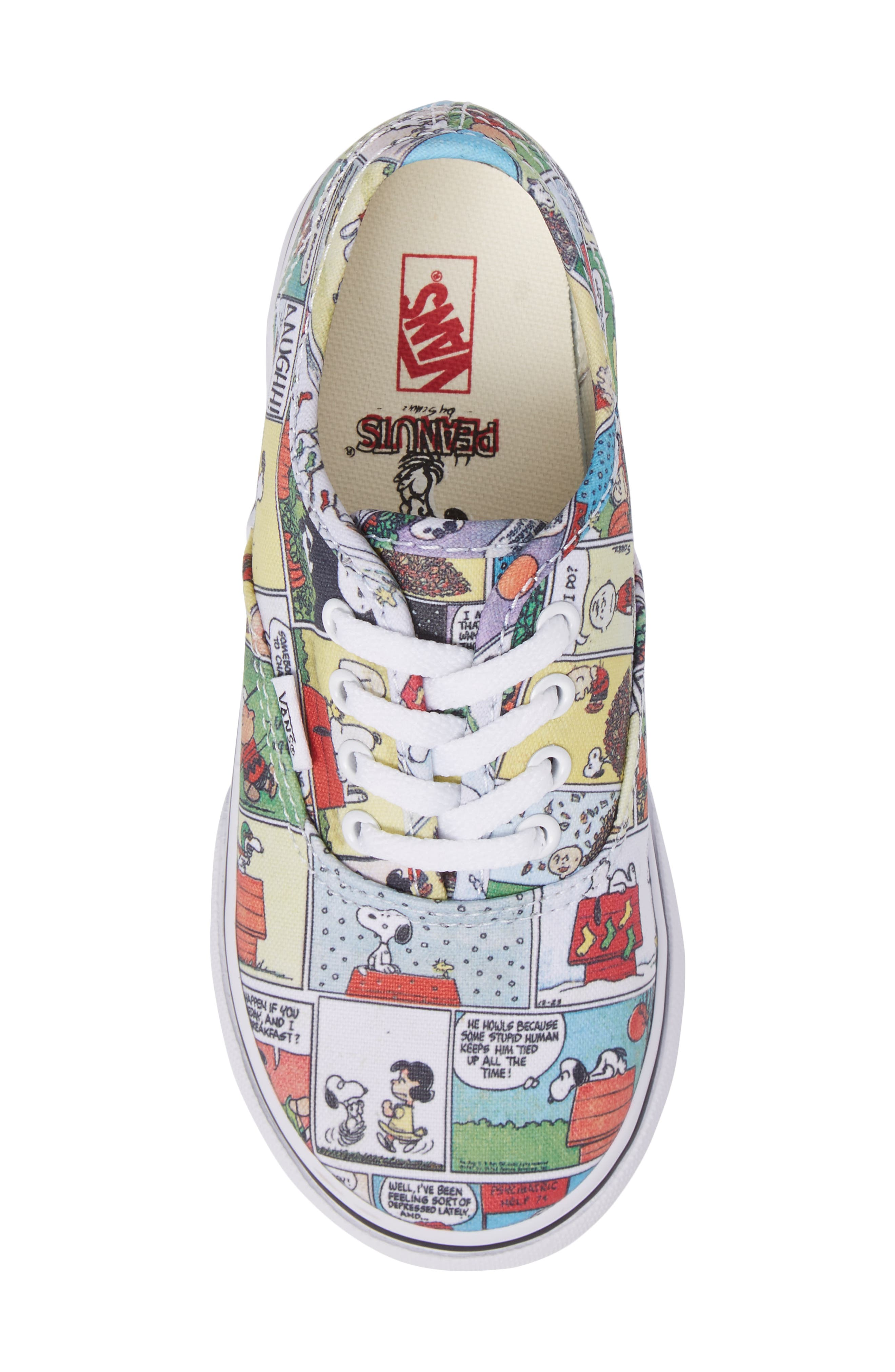 x Peanuts Authentic Low Top Sneaker,                             Alternate thumbnail 5, color,                             001
