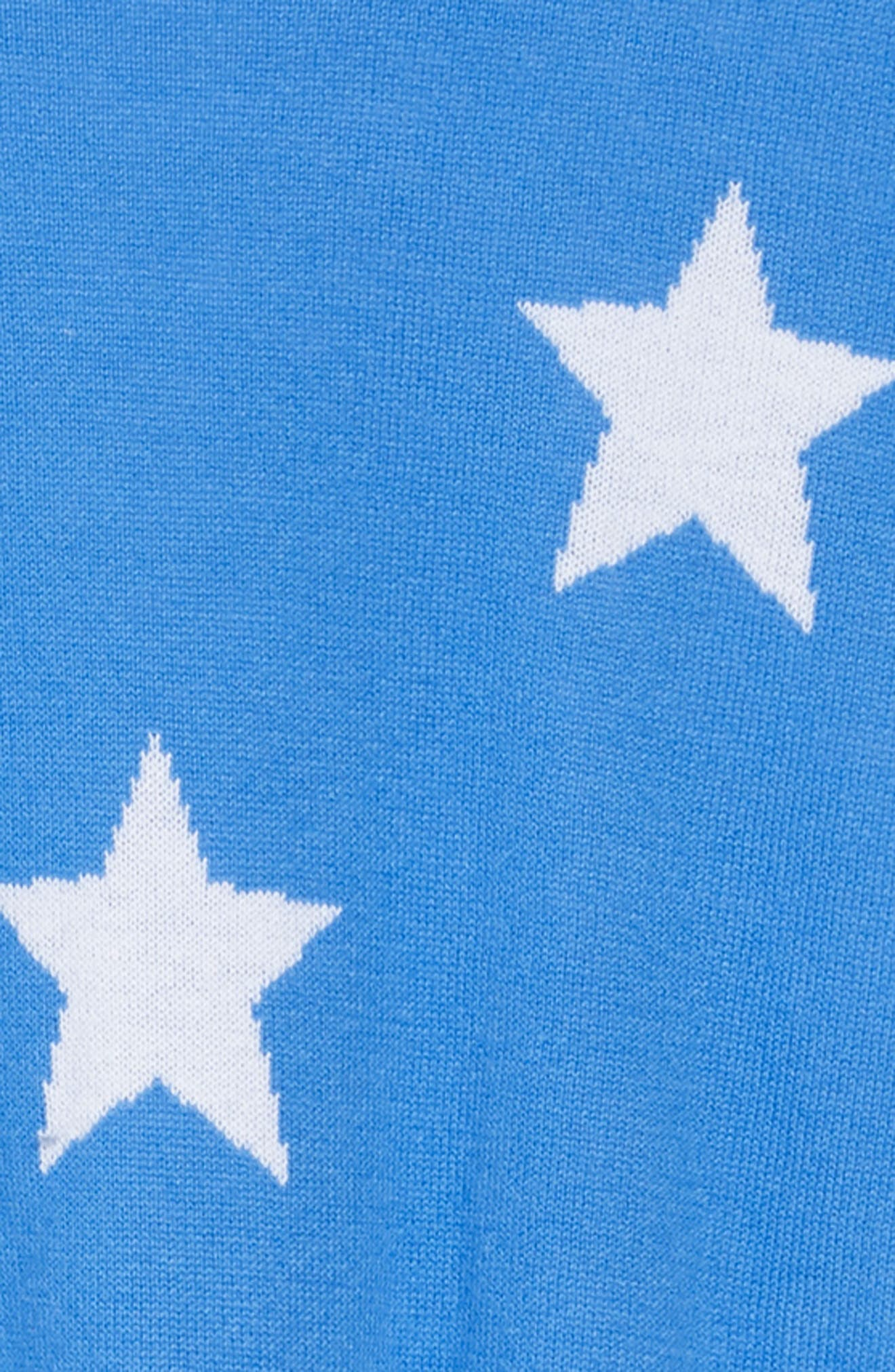 Swingy Sweater Dress,                             Alternate thumbnail 3, color,                             BLUE CAMP STARS