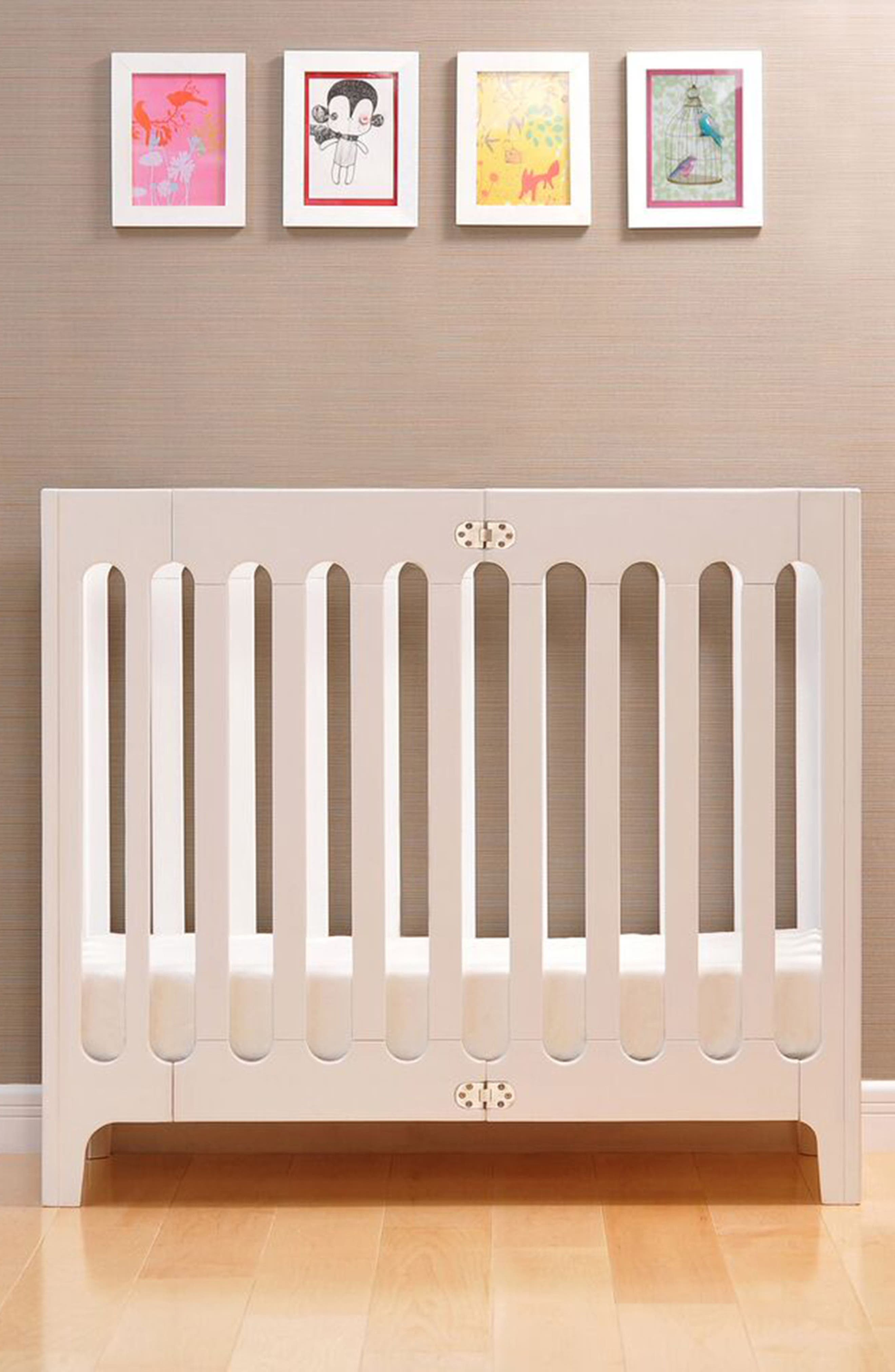Baby Alma Urban Mini Solid Wood Crib,                             Alternate thumbnail 6, color,                             COCONUT WHITE