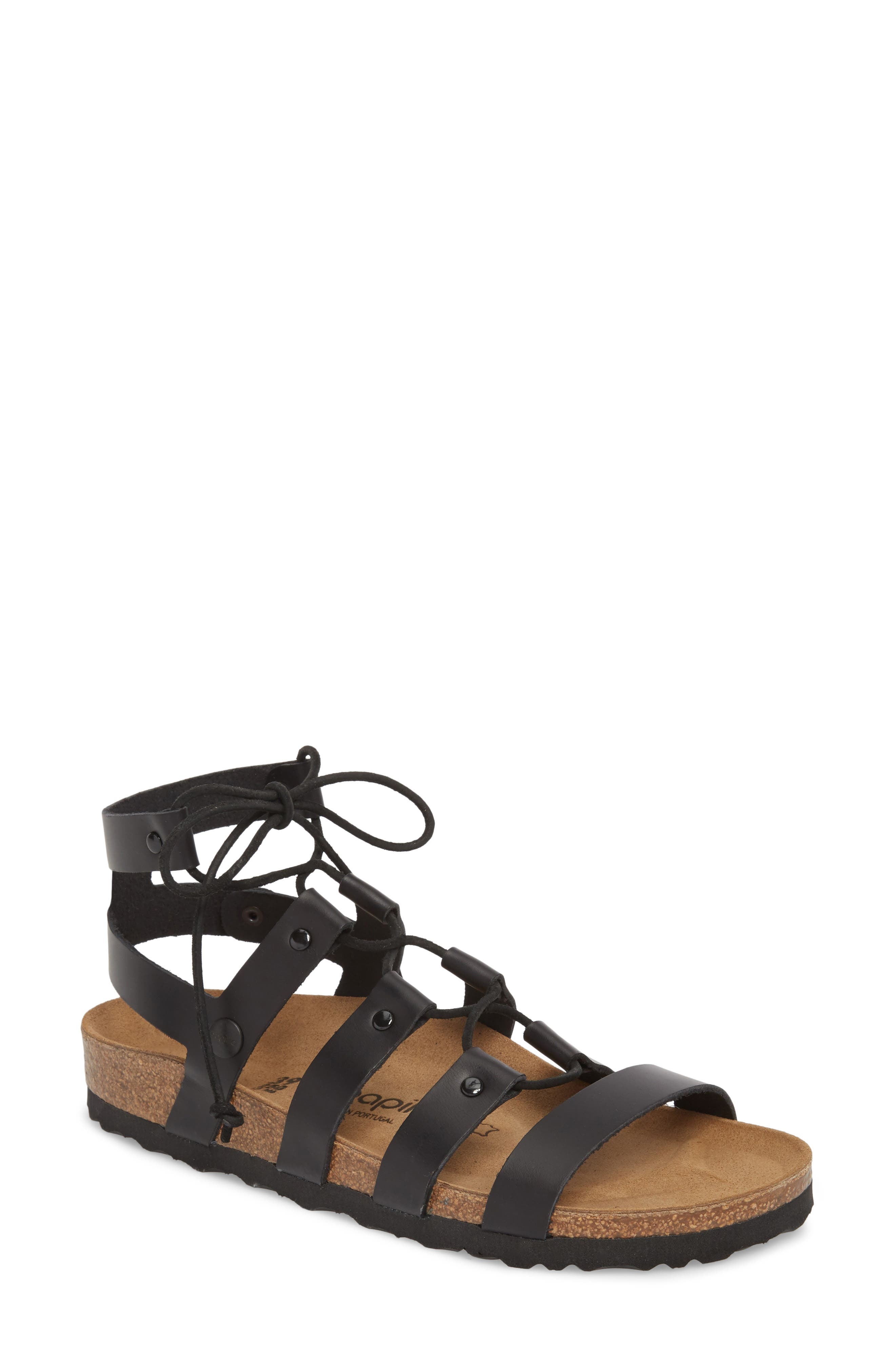 Papillio by Birkenstock Cleo Gladiator Sandal,                             Main thumbnail 1, color,                             001