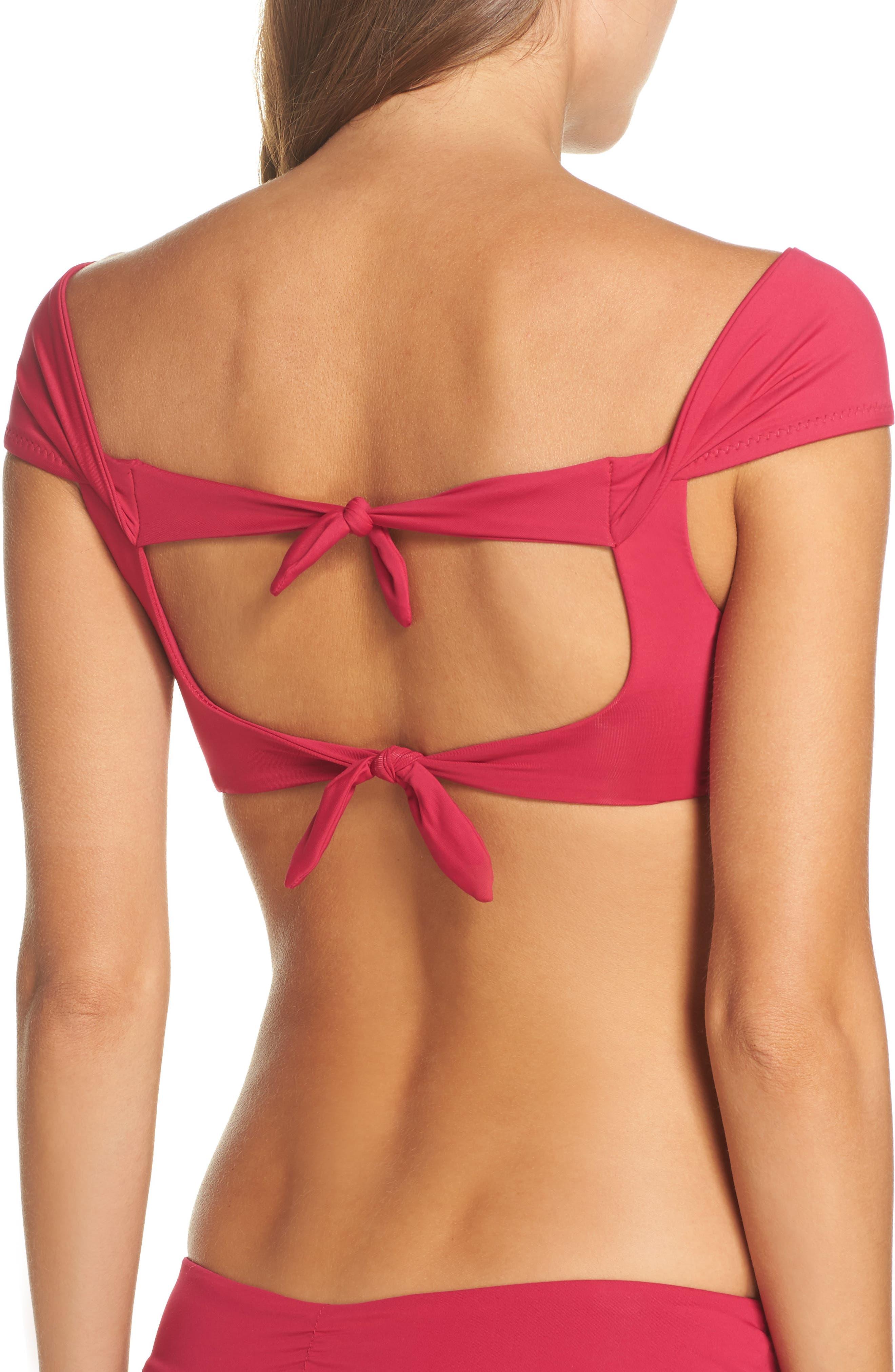 Socialite Off-the-Shoulder Bikini Top,                             Alternate thumbnail 4, color,