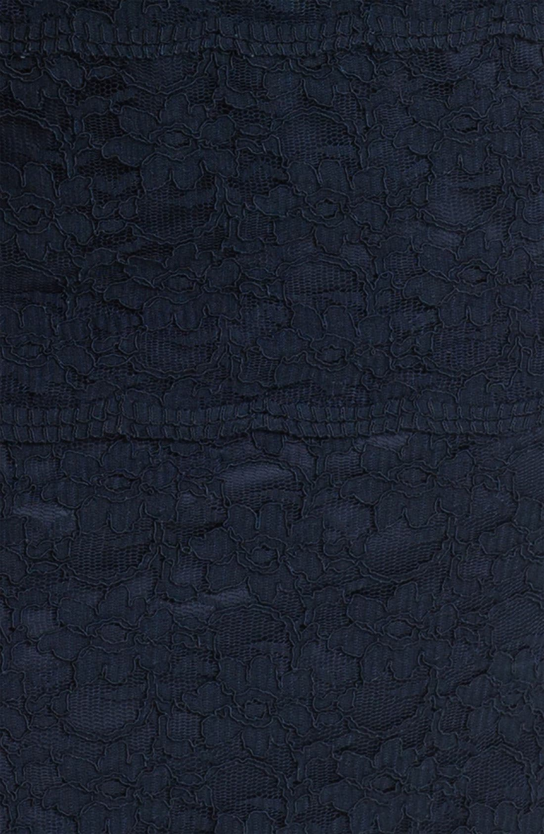 ELIZA J,                             Illusion Sleeve Lace Sheath Dress,                             Alternate thumbnail 2, color,                             410