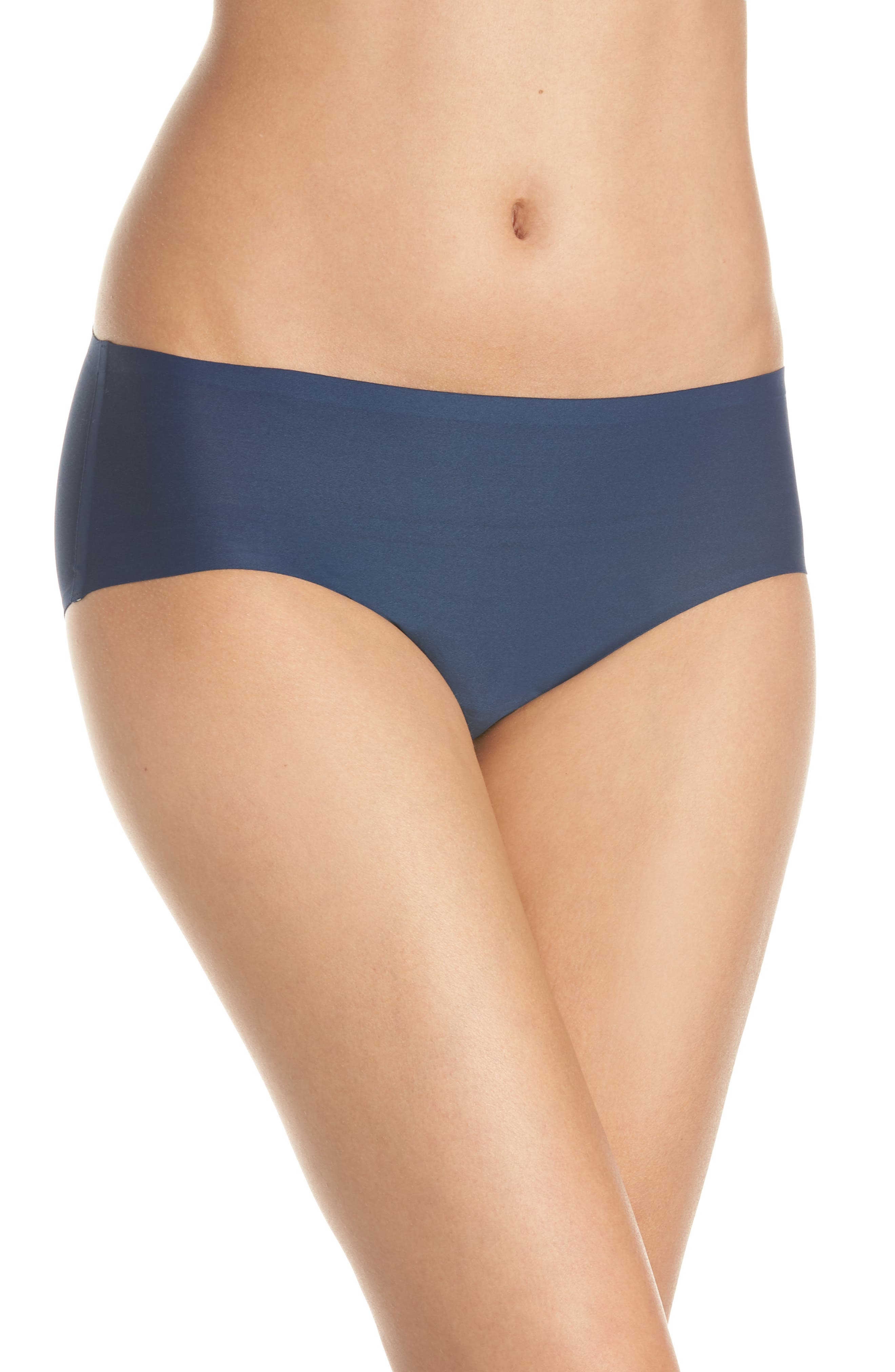 Soft Stretch Seamless Hipster Panties,                         Main,                         color, DEEP BLUE
