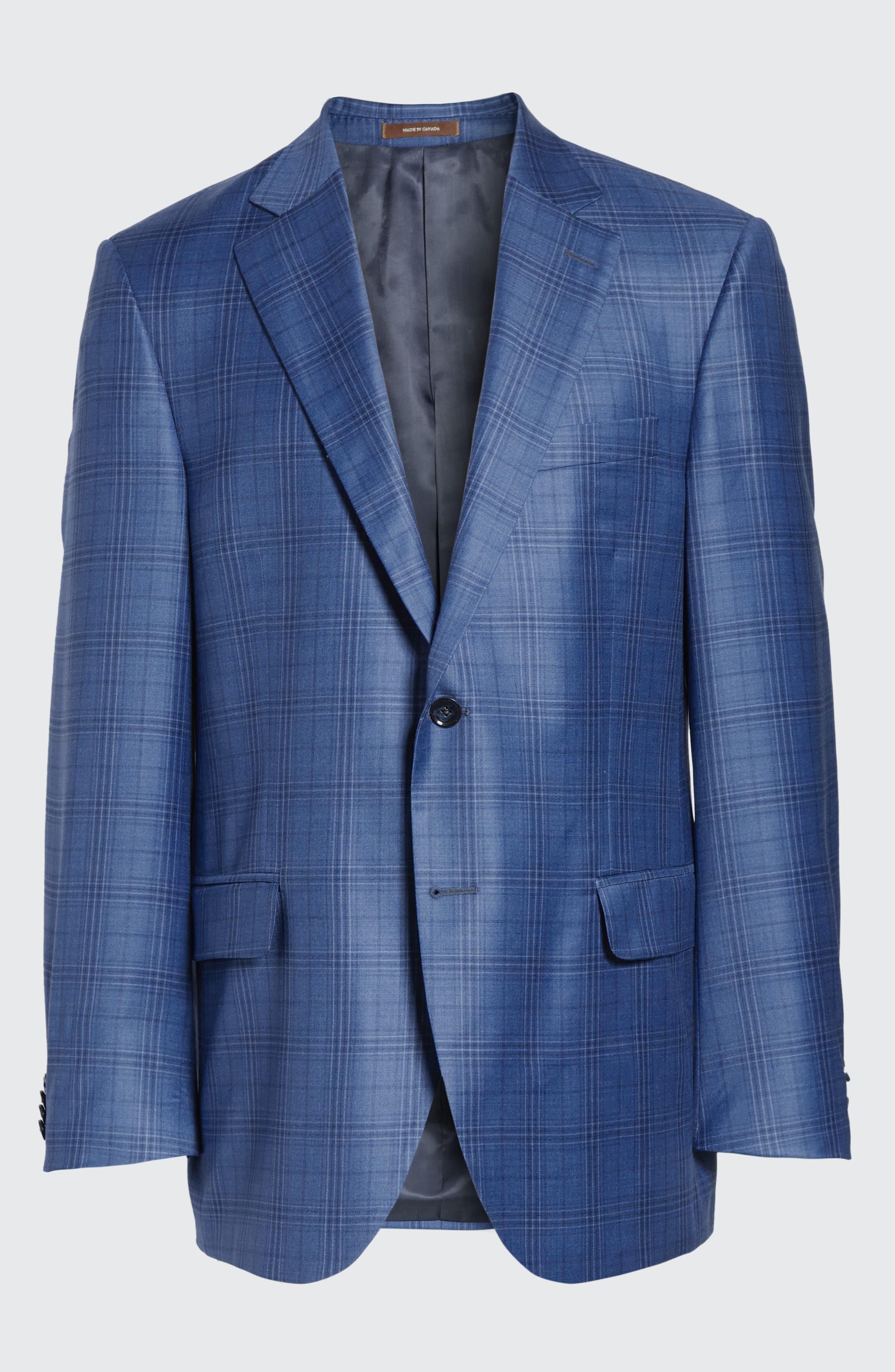 Flynn Classic Fit Plaid Wool Sport Coat,                             Alternate thumbnail 9, color,                             420