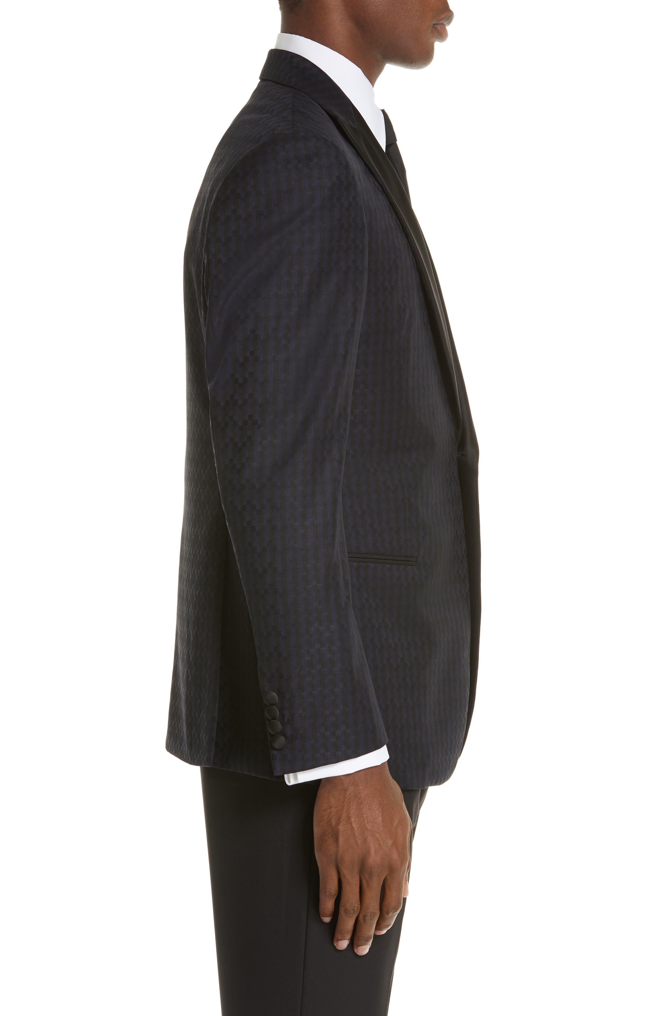 G-Line Trim Fit Wool Dinner Jacket,                             Alternate thumbnail 3, color,                             MIDNIGHT