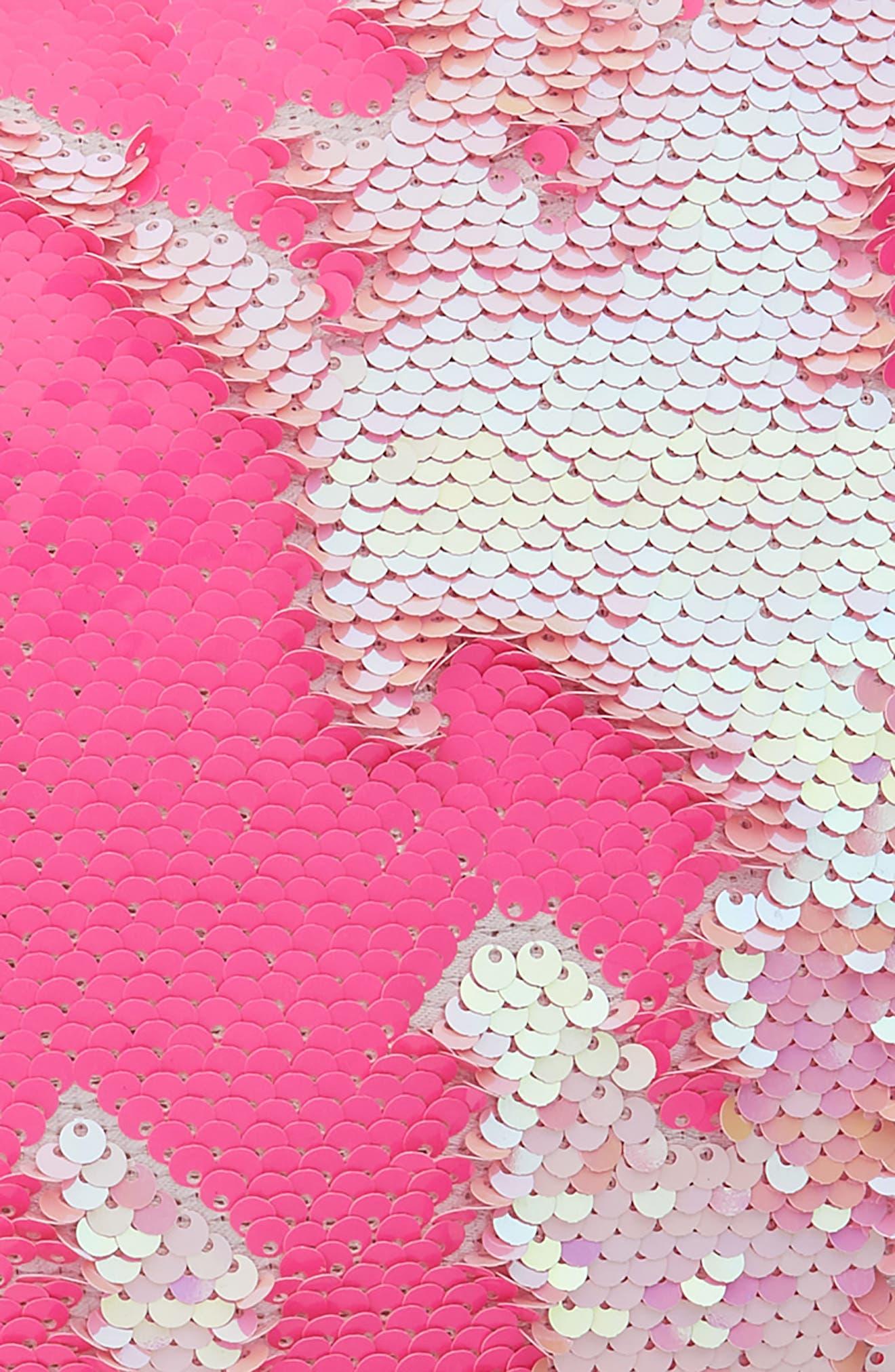 CAPELLI NEW YORK,                             Reversible Sequin Heart Pillow,                             Alternate thumbnail 3, color,                             PINK COMBO
