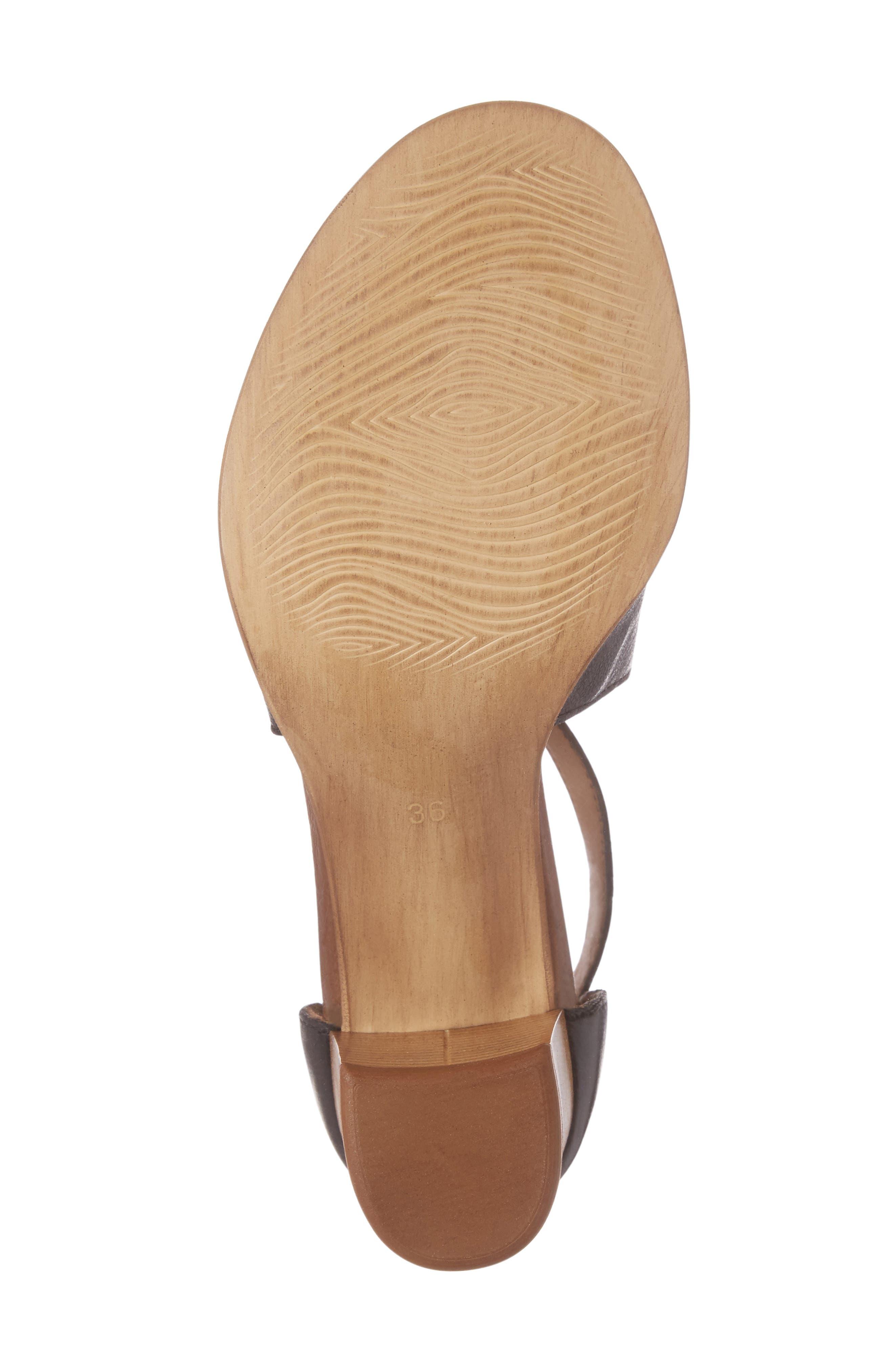 Savannah T-Strap Strap Sandal,                             Alternate thumbnail 6, color,                             001