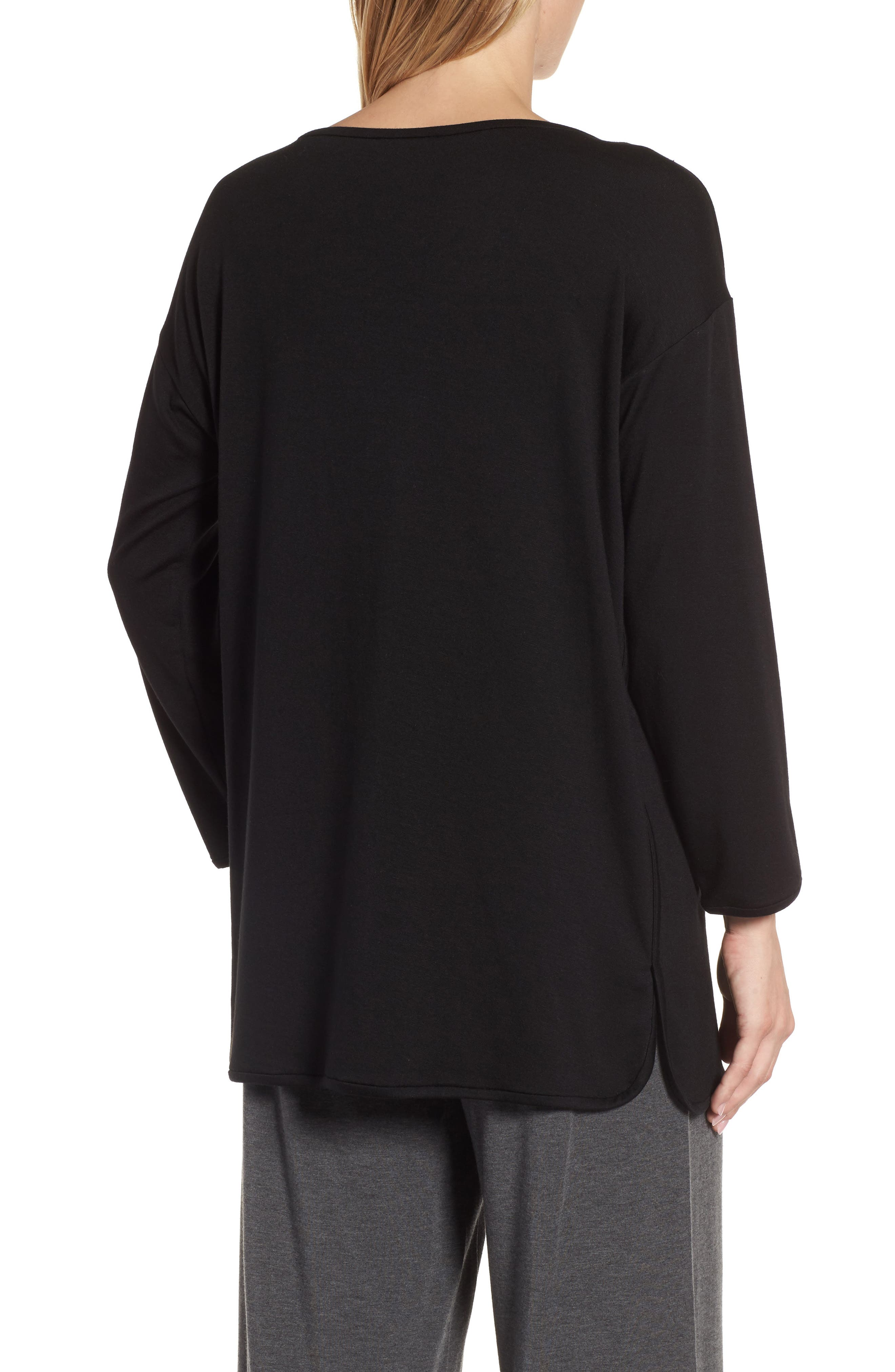 Stretch Tencel<sup>®</sup> Knit Top,                             Alternate thumbnail 2, color,                             001