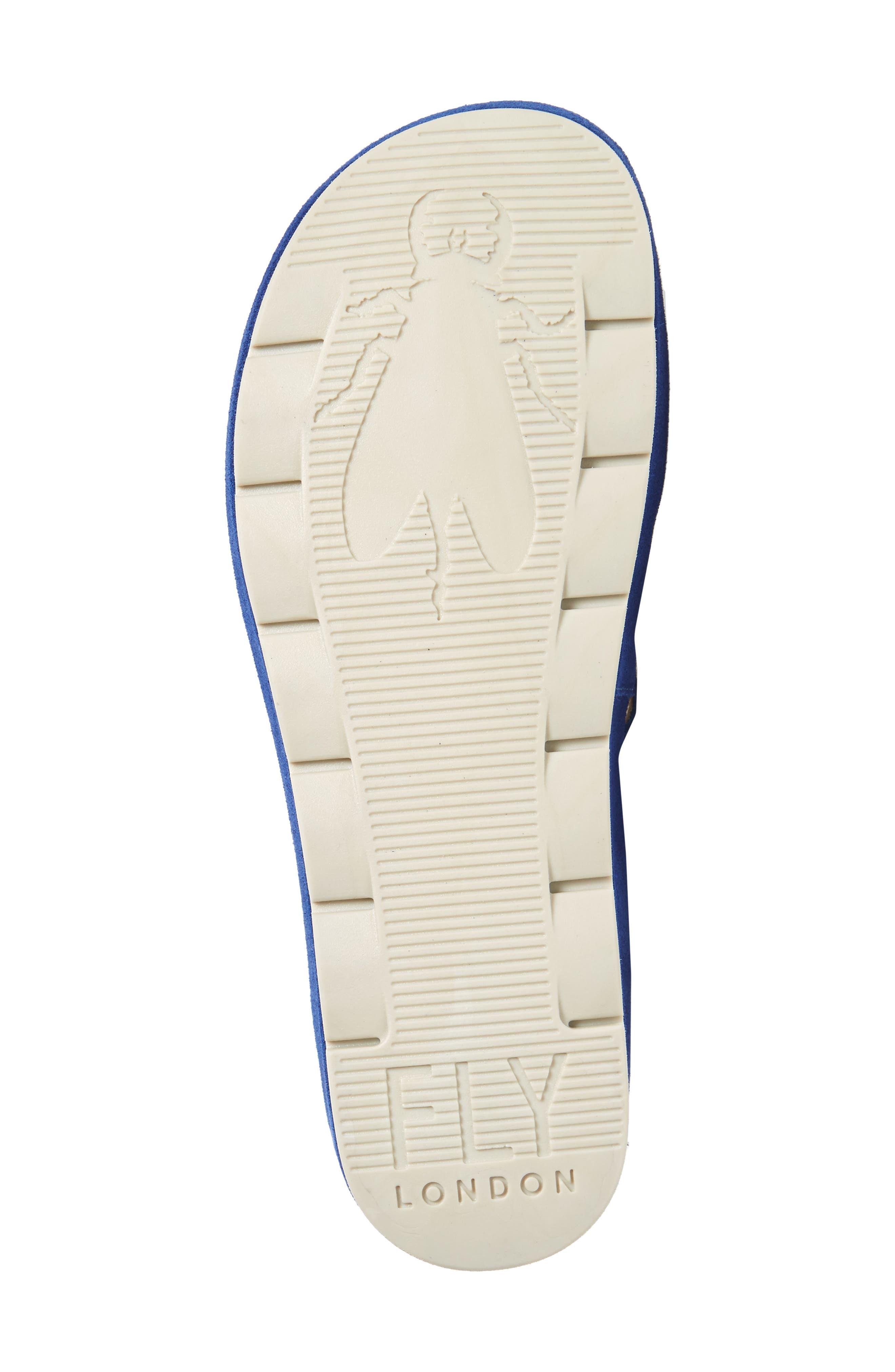 Begs Platform Slide Sandal,                             Alternate thumbnail 6, color,                             BLUE SUEDE