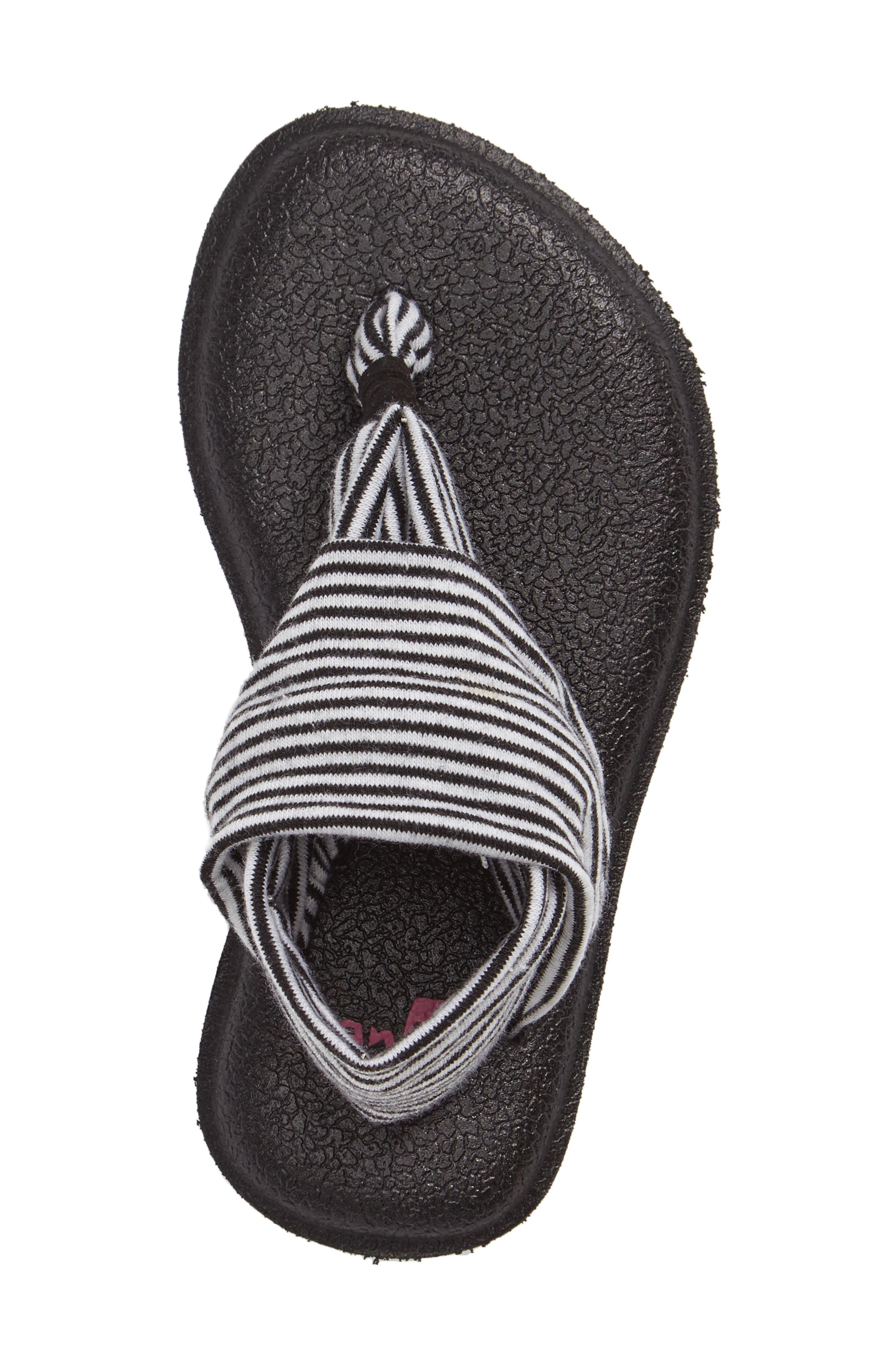 'Yoga Sling' Sandal,                             Alternate thumbnail 3, color,                             BLACK/ WHITE STRIPE