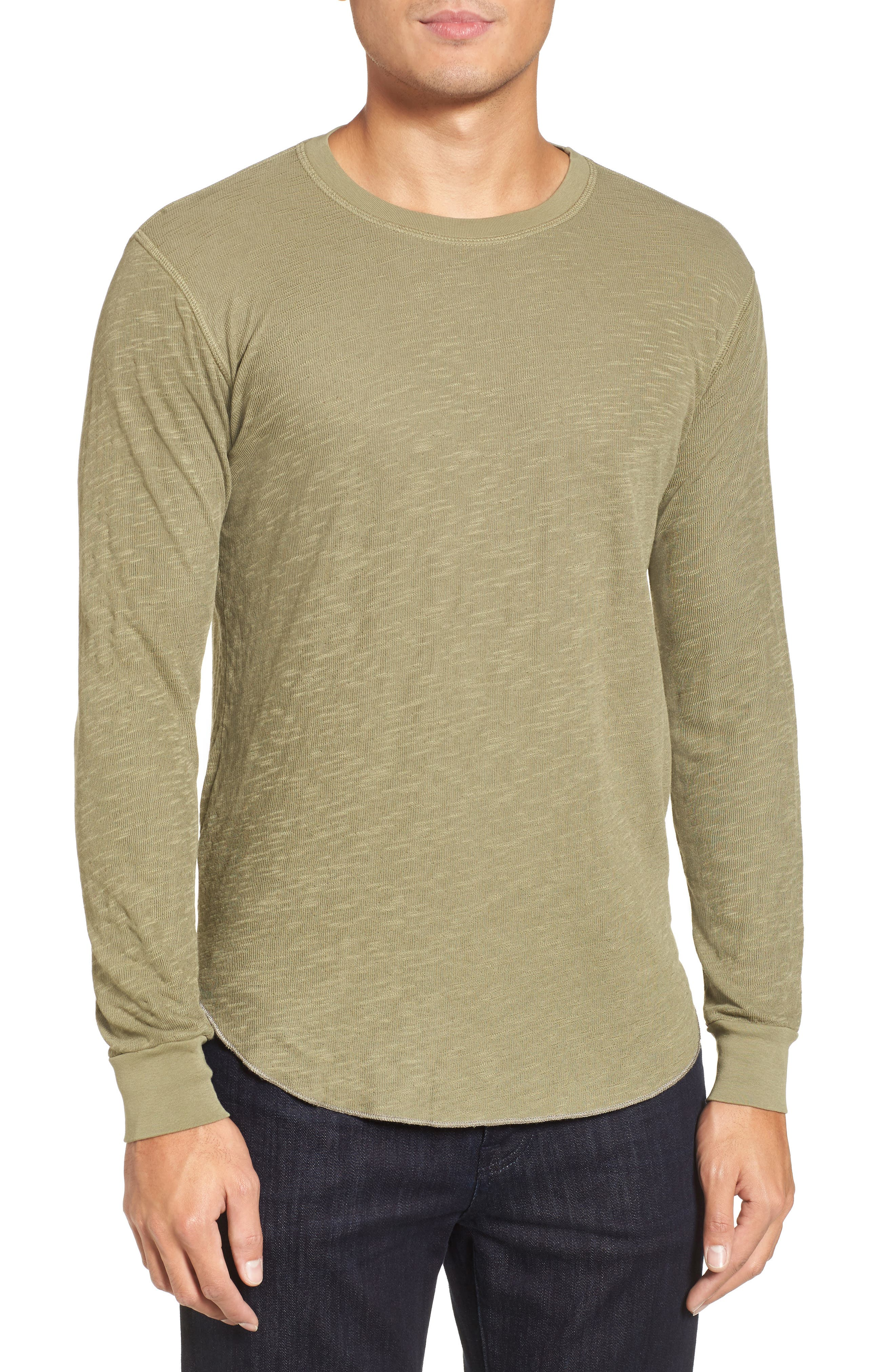 Double Layer Slim Crewneck T-Shirt,                             Main thumbnail 5, color,