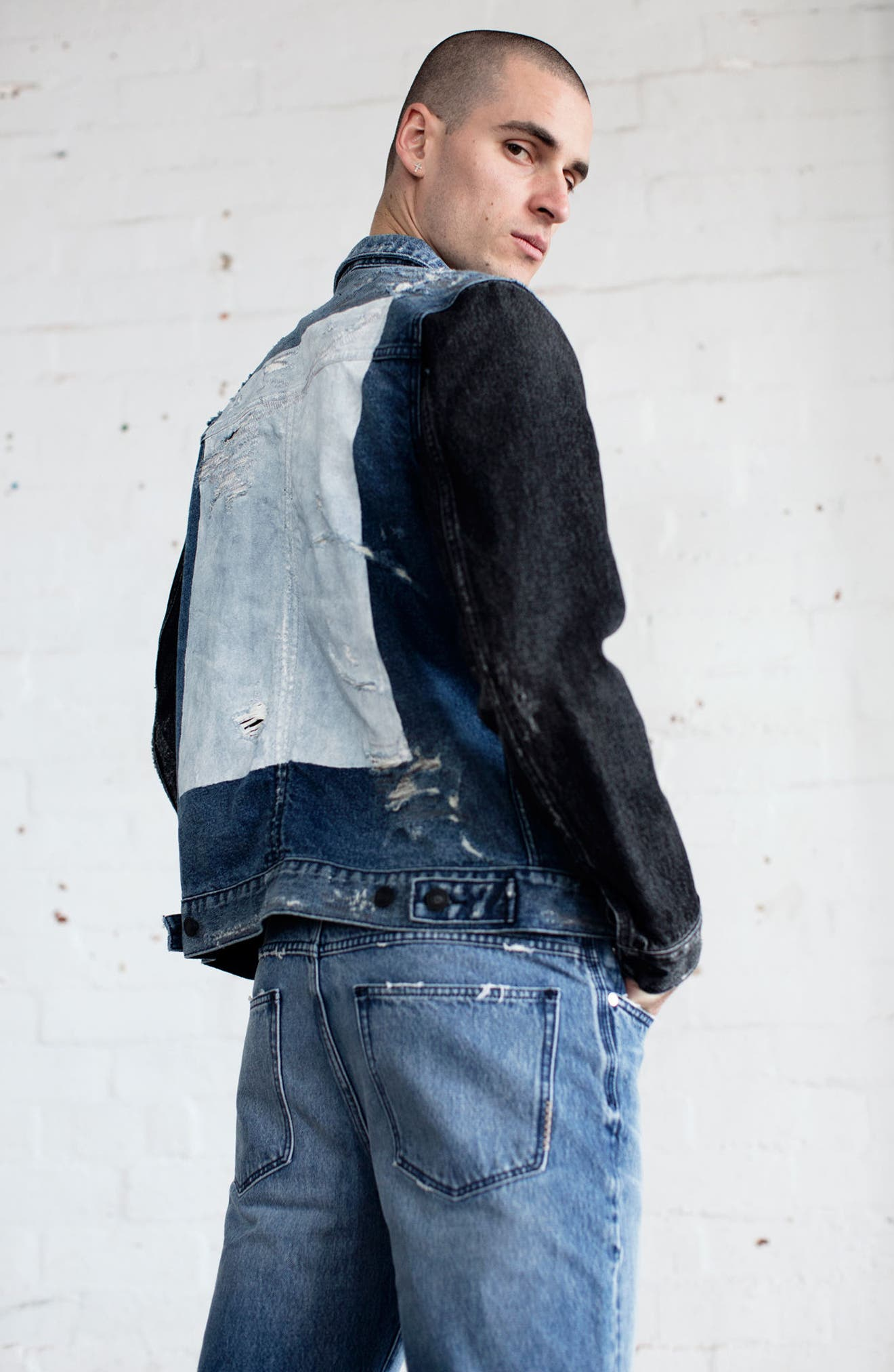 Trash Denim Jacket,                             Alternate thumbnail 6, color,                             460