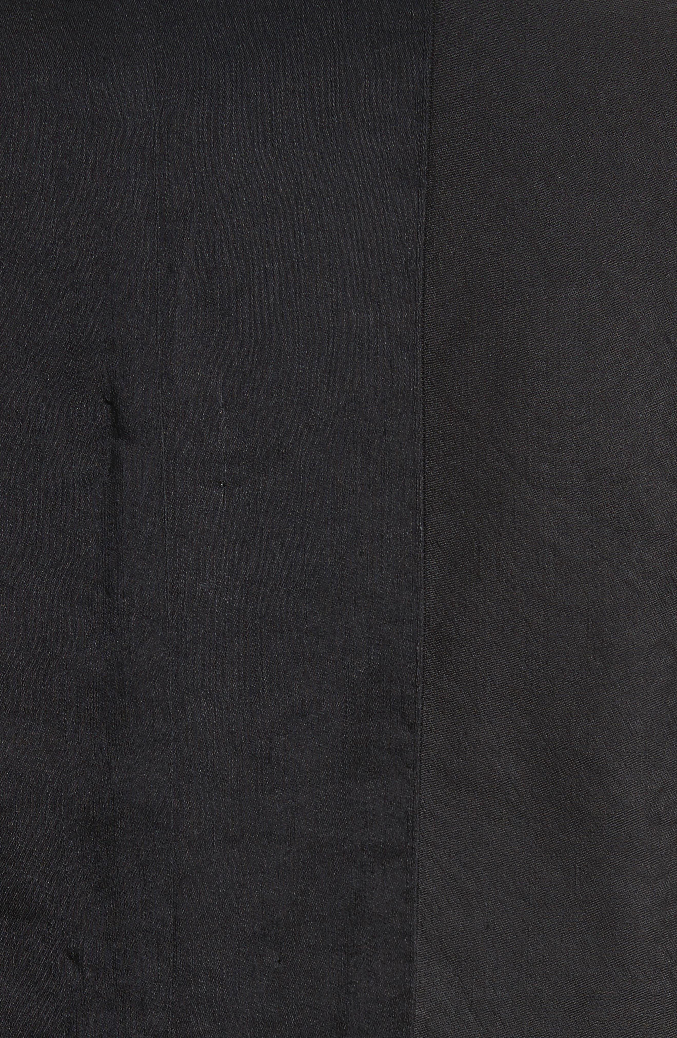 Slim Fit Linen Blend Blazer,                             Alternate thumbnail 6, color,                             BLACK