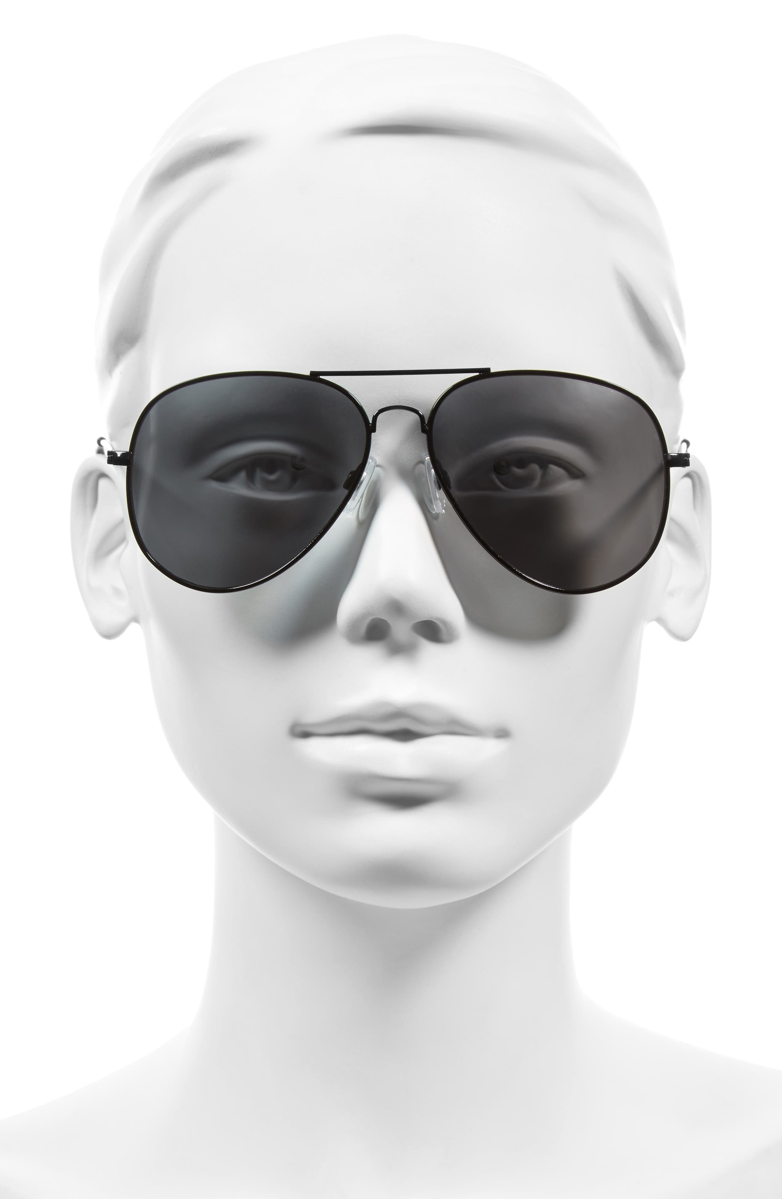 Mirrored Aviator 57mm Sunglasses,                             Alternate thumbnail 18, color,