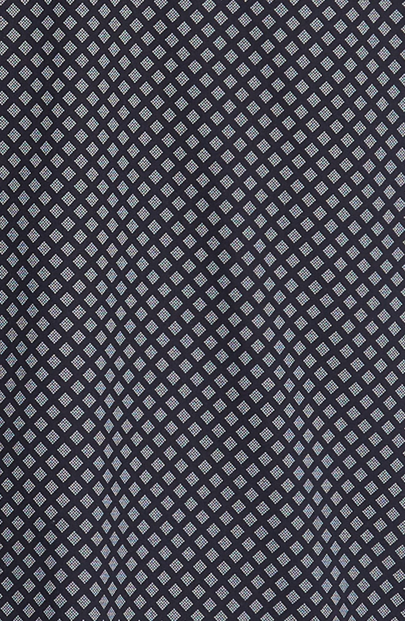 Slim Fit Foresth Diamond Pattern Woven Shirt,                             Alternate thumbnail 6, color,                             NAVY