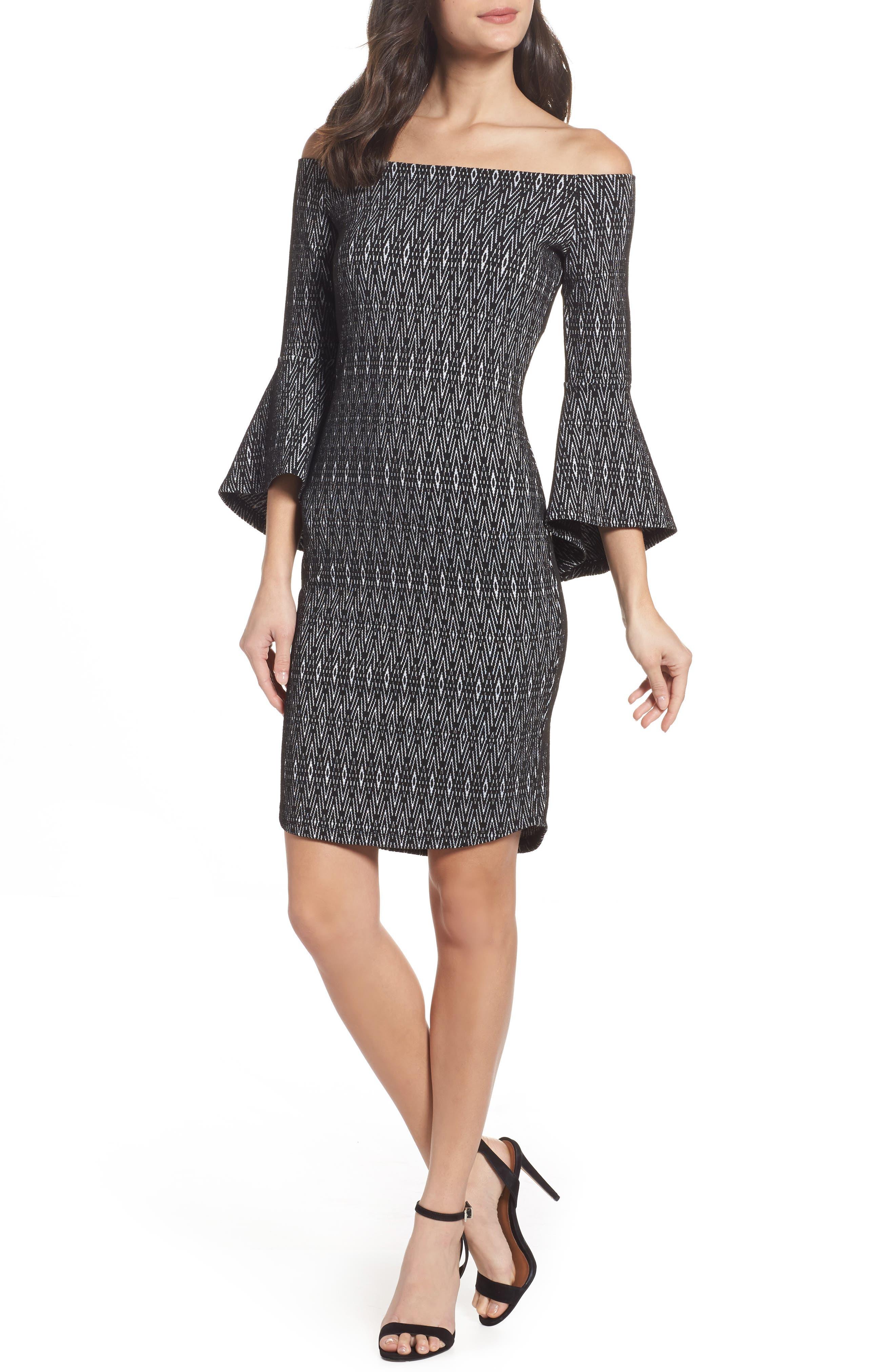 Off the Shoulder Sheath Dress,                         Main,                         color,