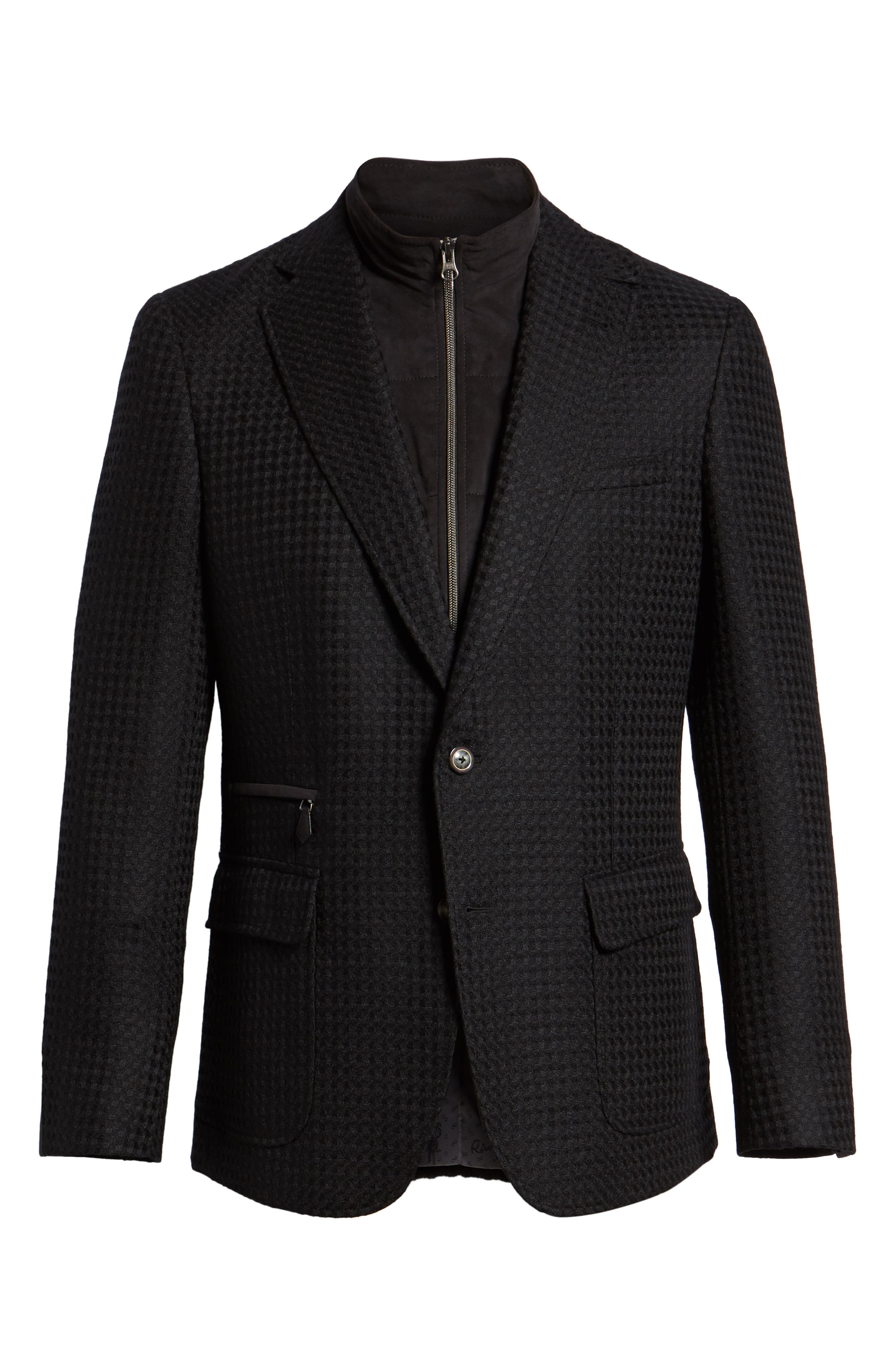 Downhill Tailored Wool Sport Coat,                             Alternate thumbnail 5, color,                             001