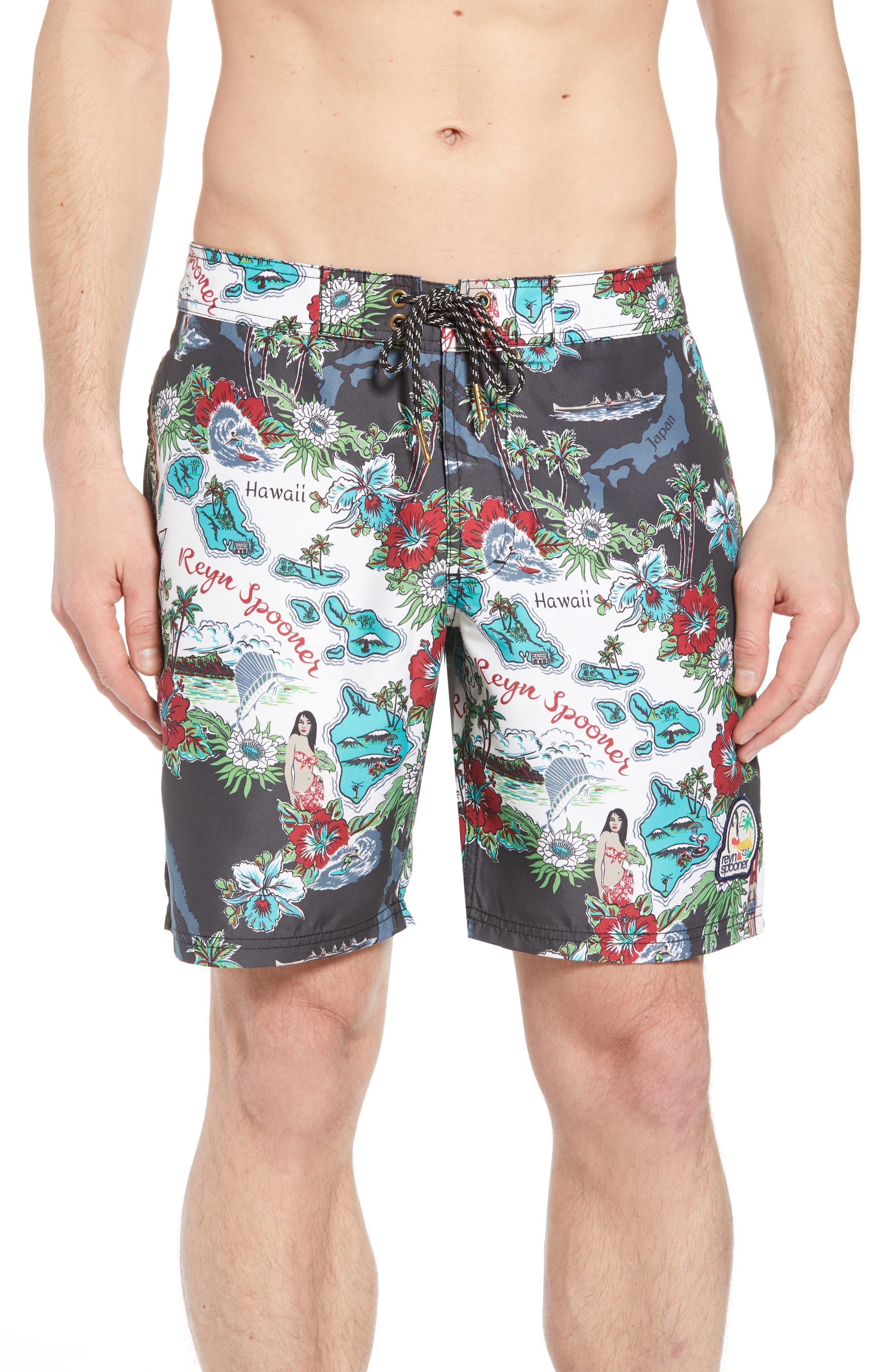 Status Oceanic Regular Fit Board Shorts,                         Main,                         color,