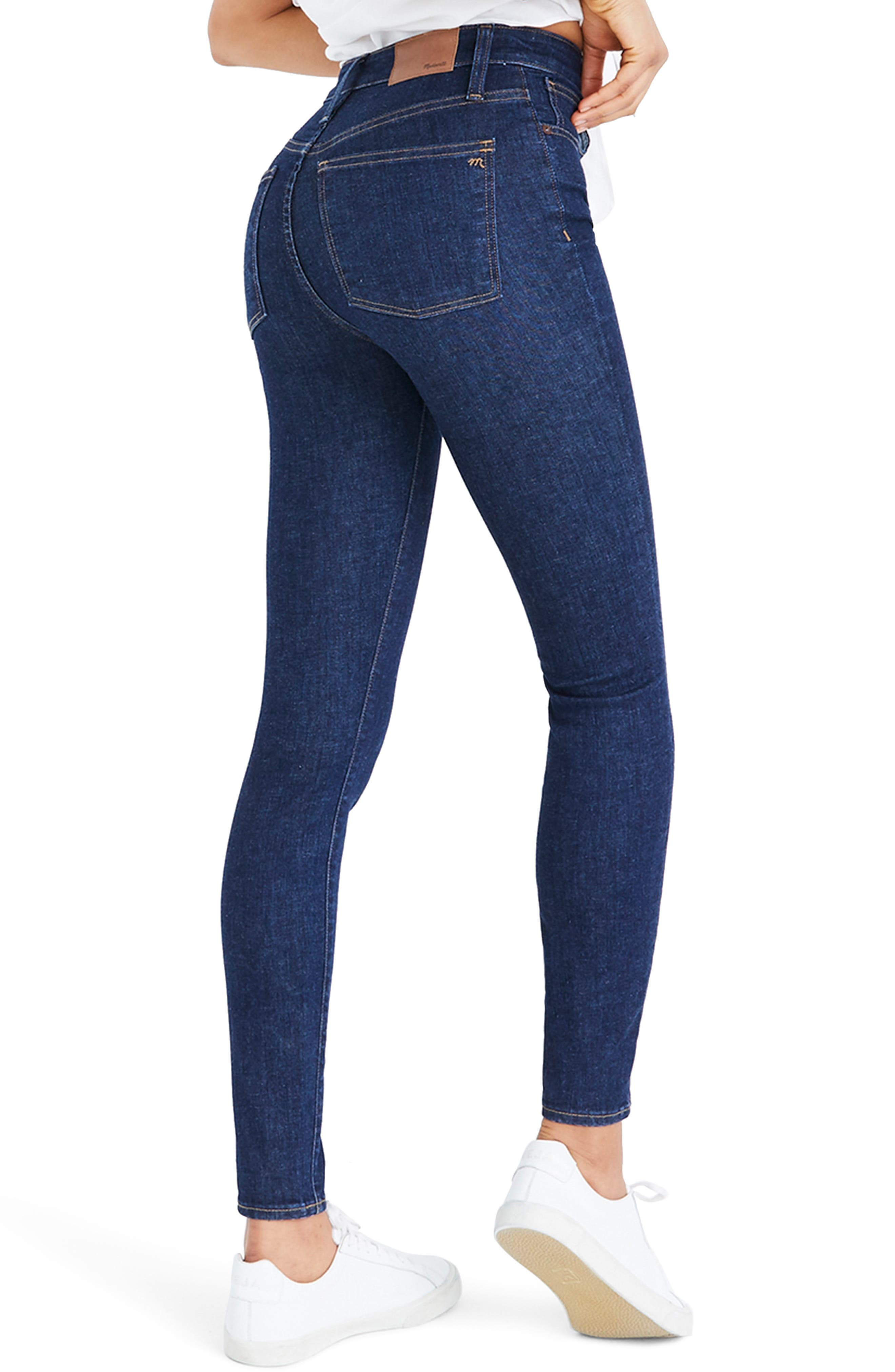 Curvy High Waist Skinny Jeans,                             Alternate thumbnail 3, color,                             LUCILLE WASH