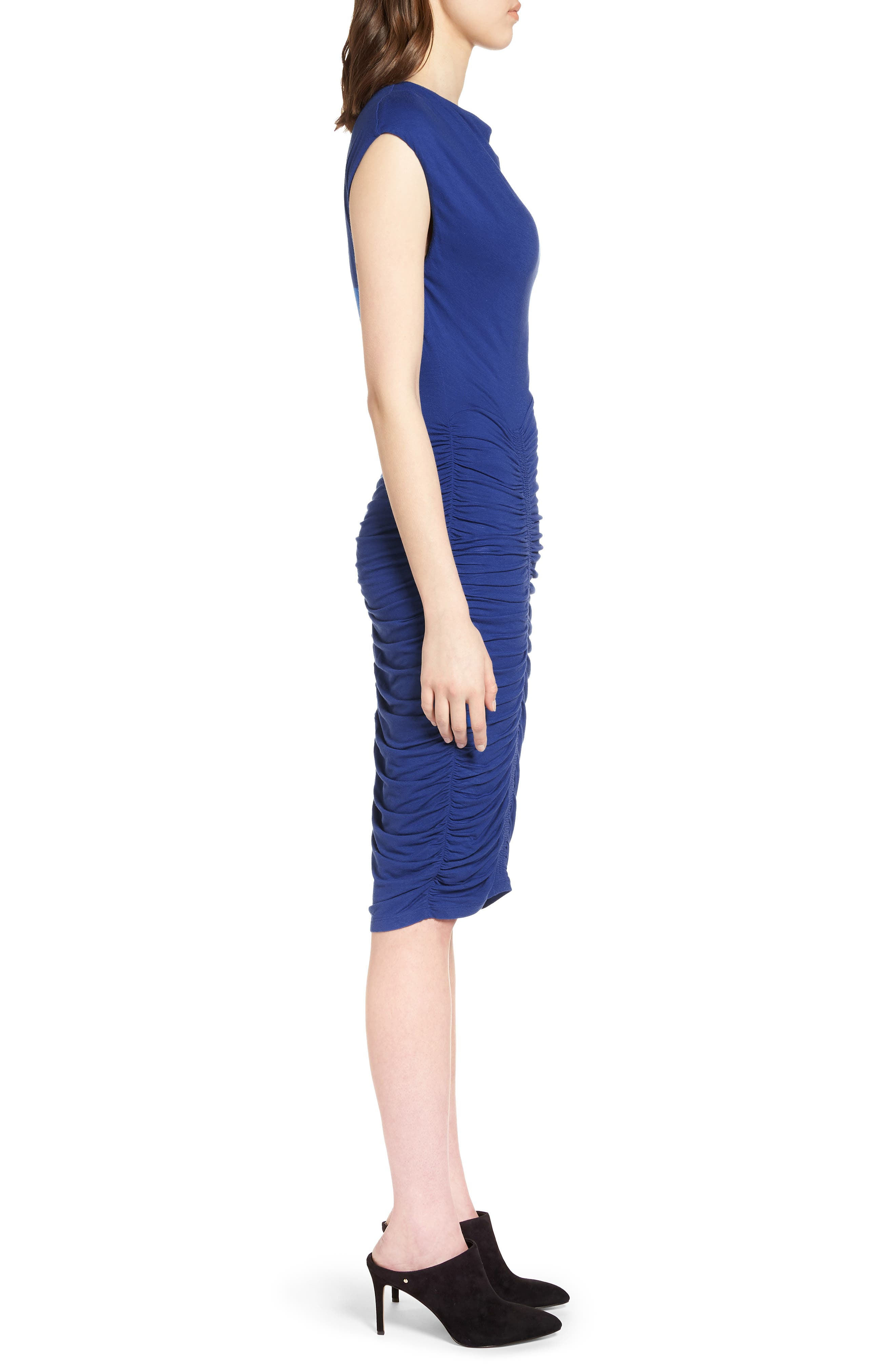 Ruched Detail Sheath Dress,                             Alternate thumbnail 8, color,