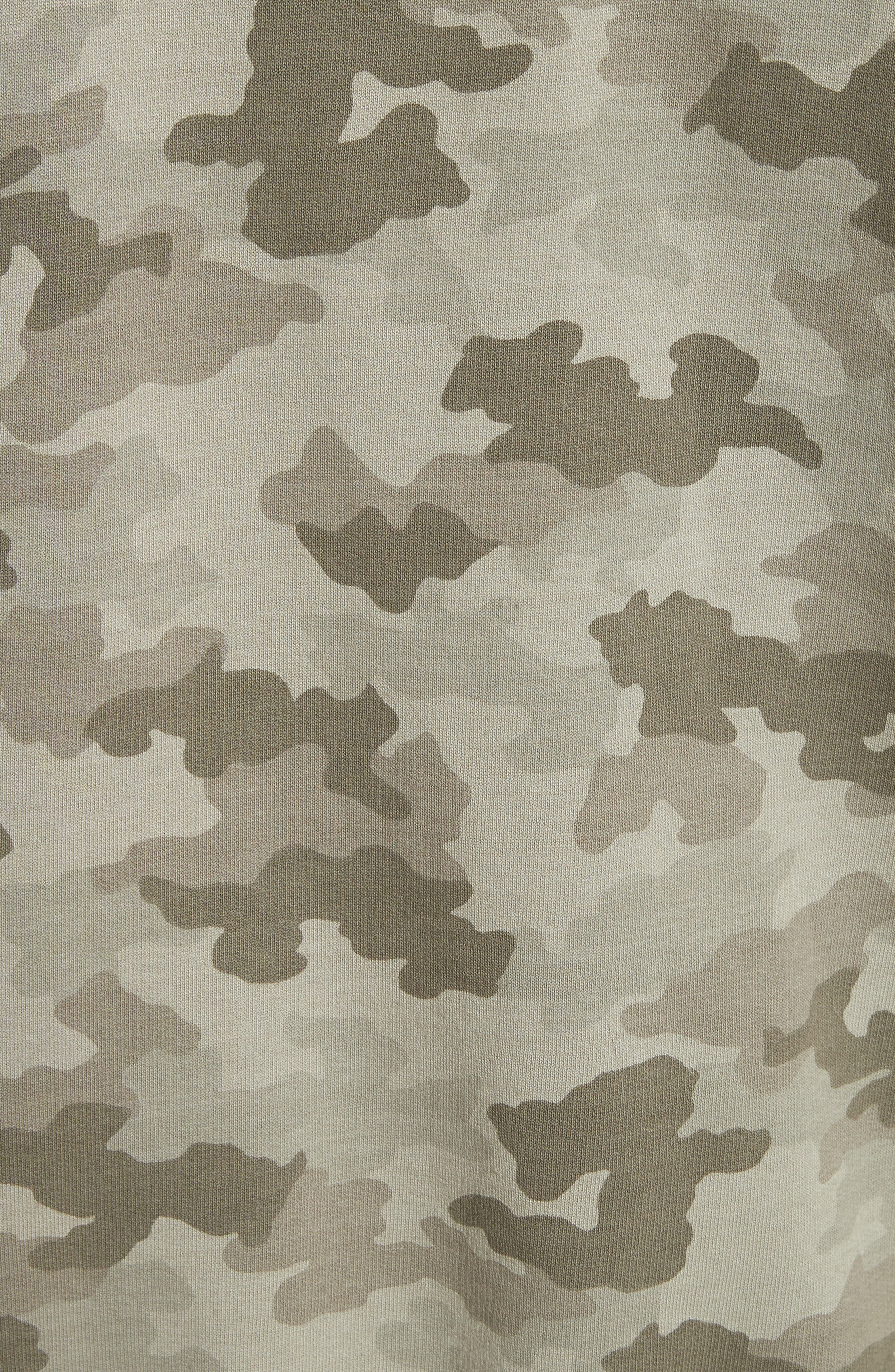 Camo French Terry Zip Hoodie,                             Alternate thumbnail 5, color,                             350