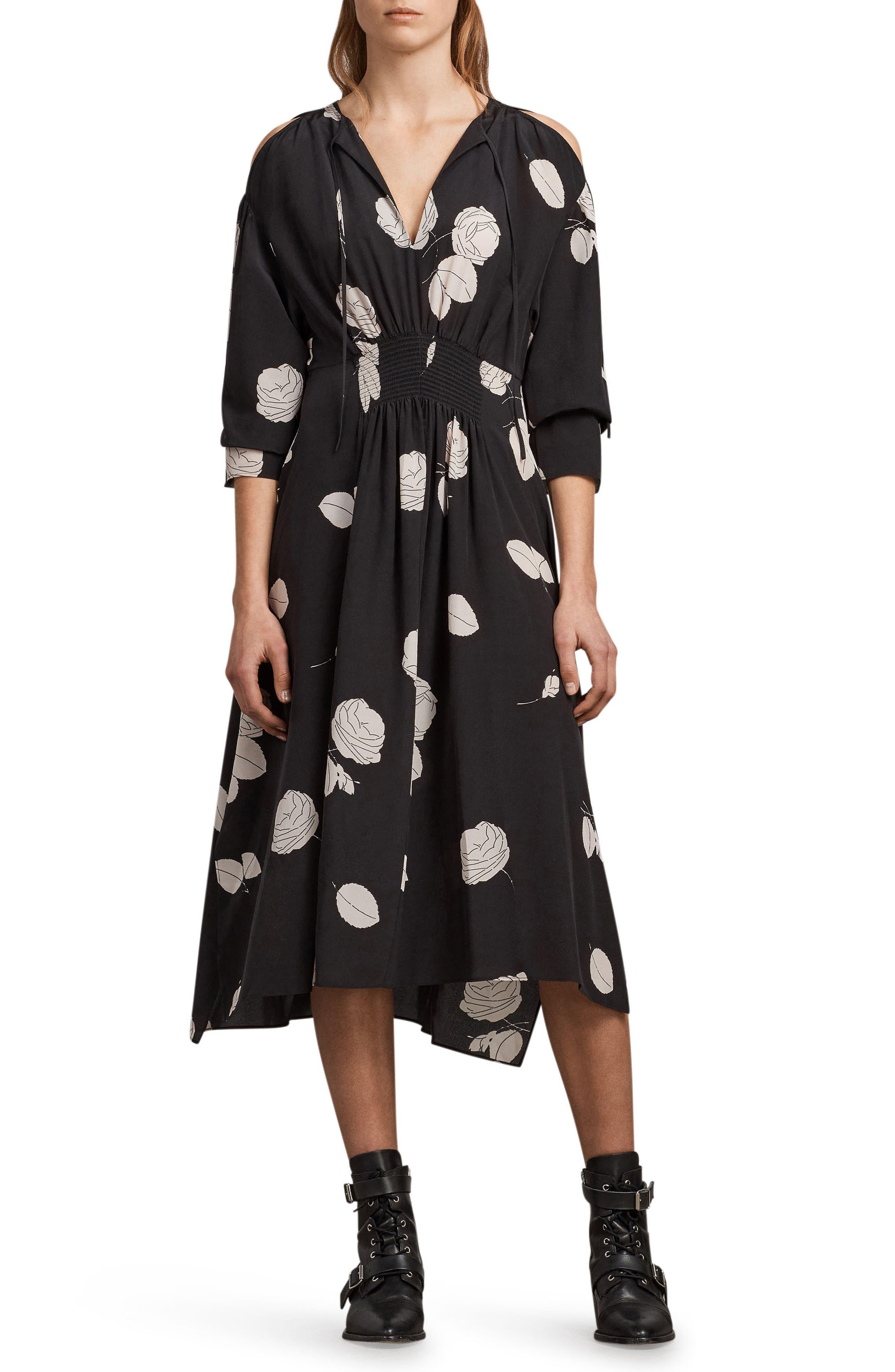 Lavette Rodin Silk Dress,                         Main,                         color, 001