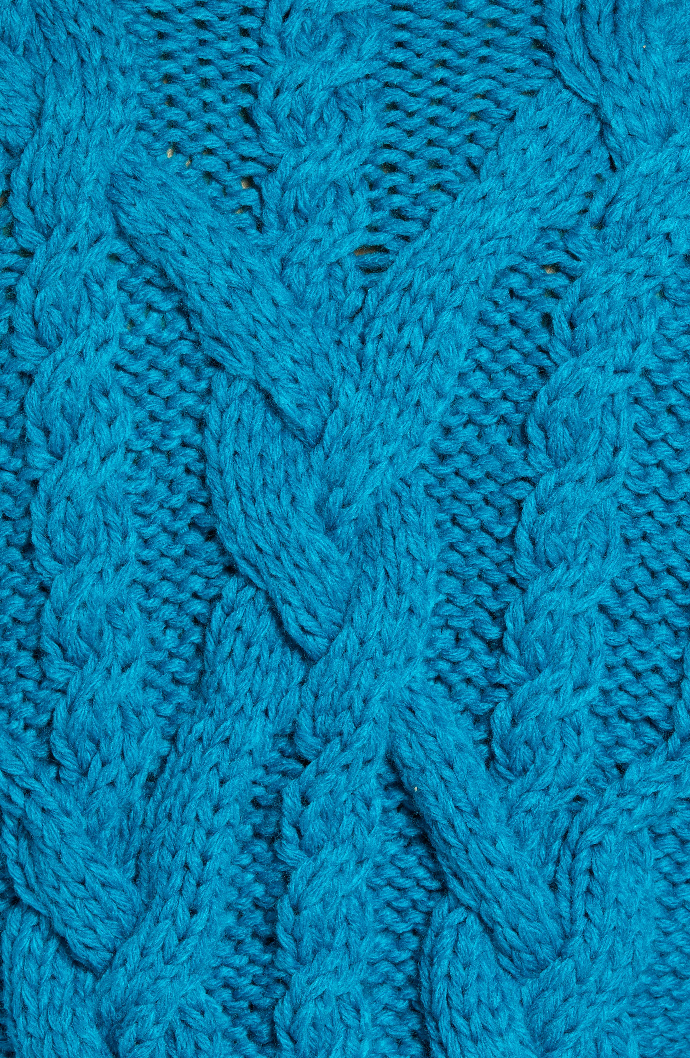 Classic Cable Knit Sweater,                             Alternate thumbnail 5, color,                             BLUE