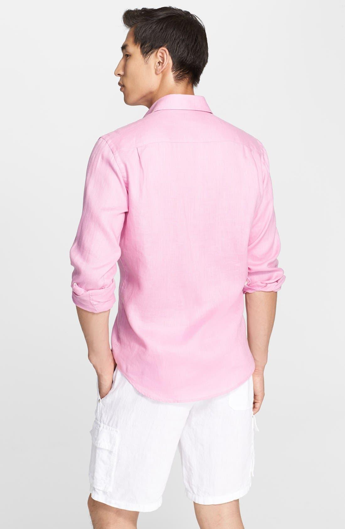 'Caroubier' Linen Shirt,                             Alternate thumbnail 30, color,