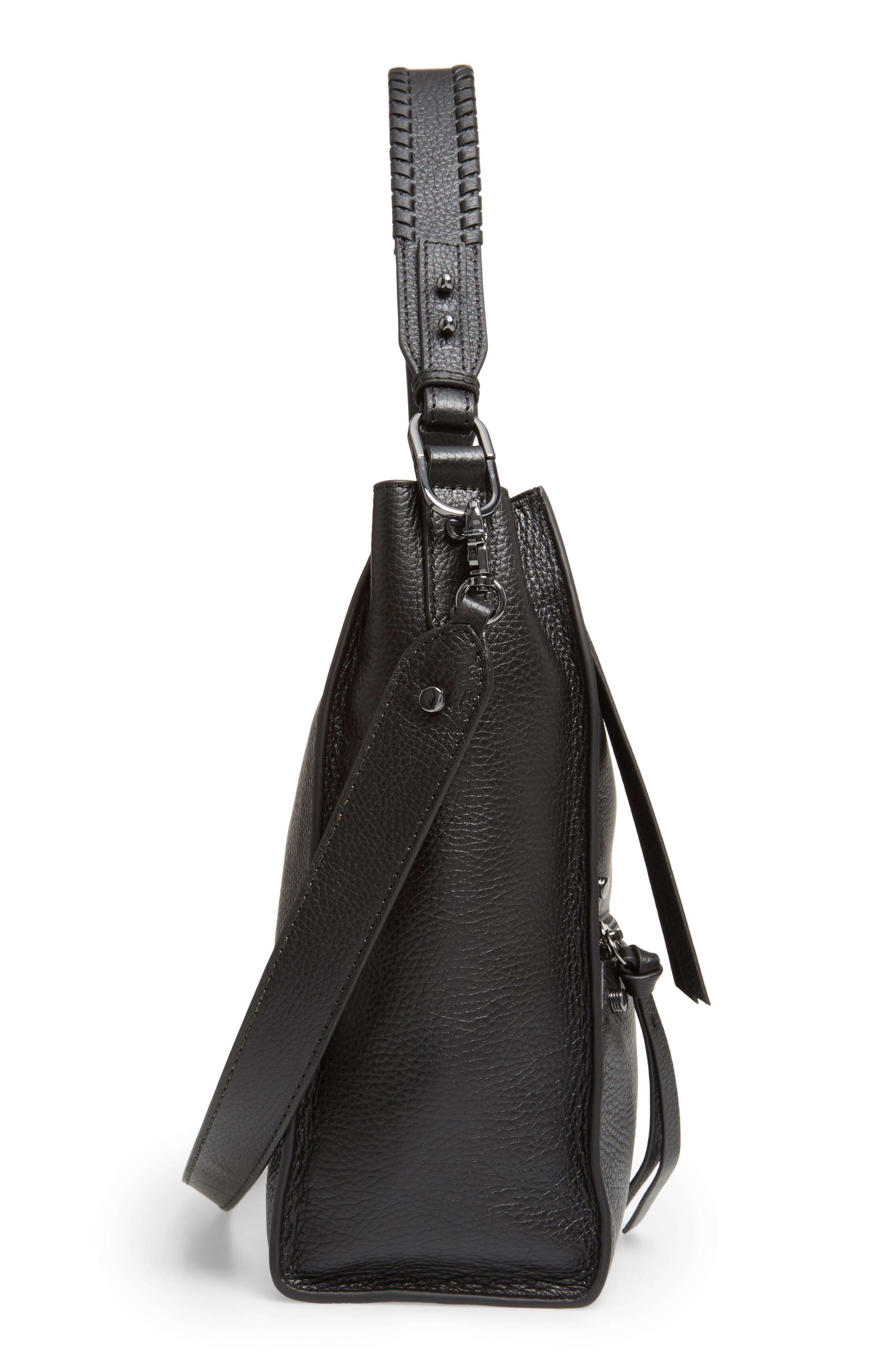 Large Paloma Leather Hobo,                             Alternate thumbnail 5, color,                             001