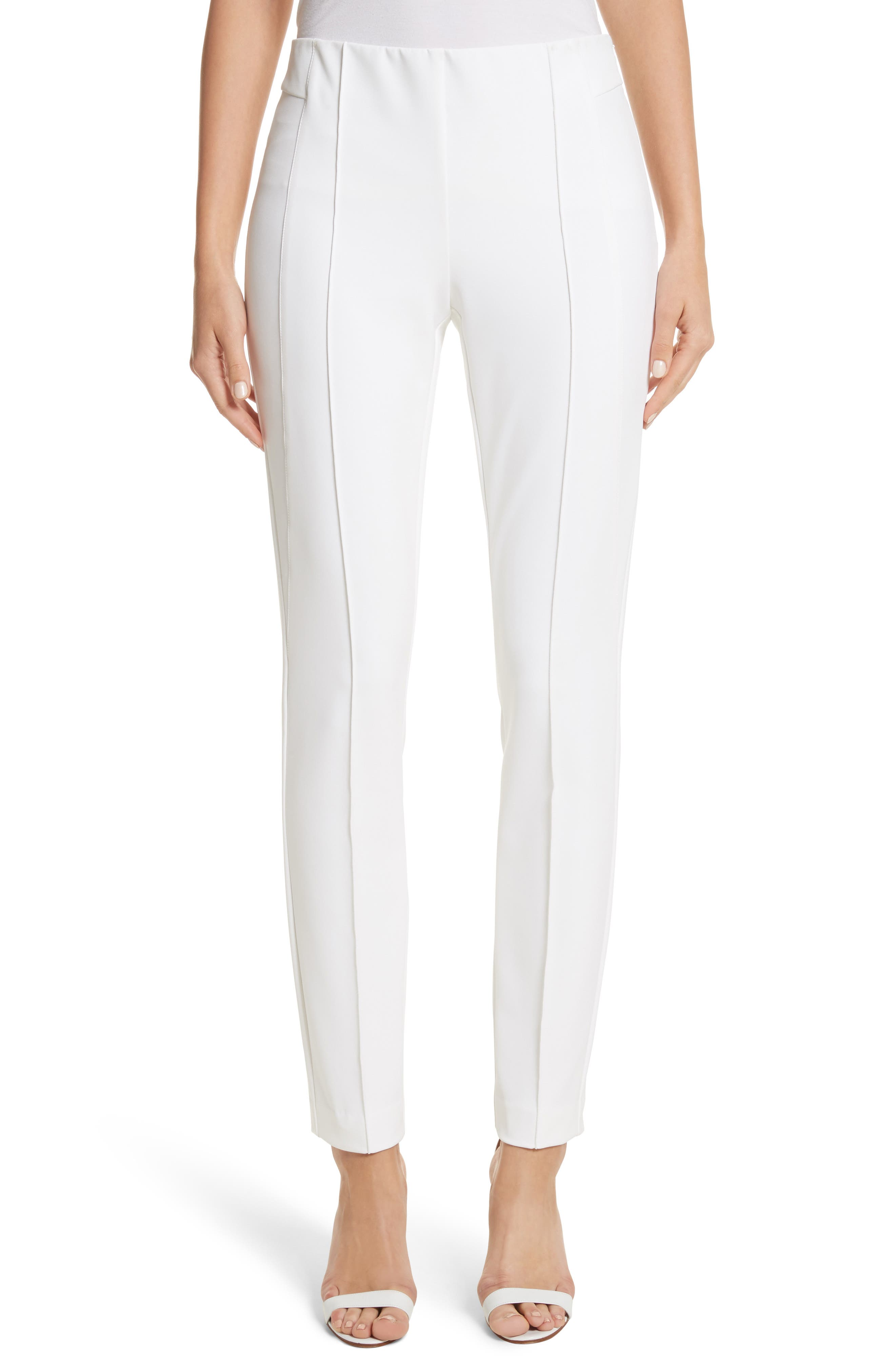 'Gramercy' Acclaimed Stretch Pants,                             Main thumbnail 1, color,                             WHITE
