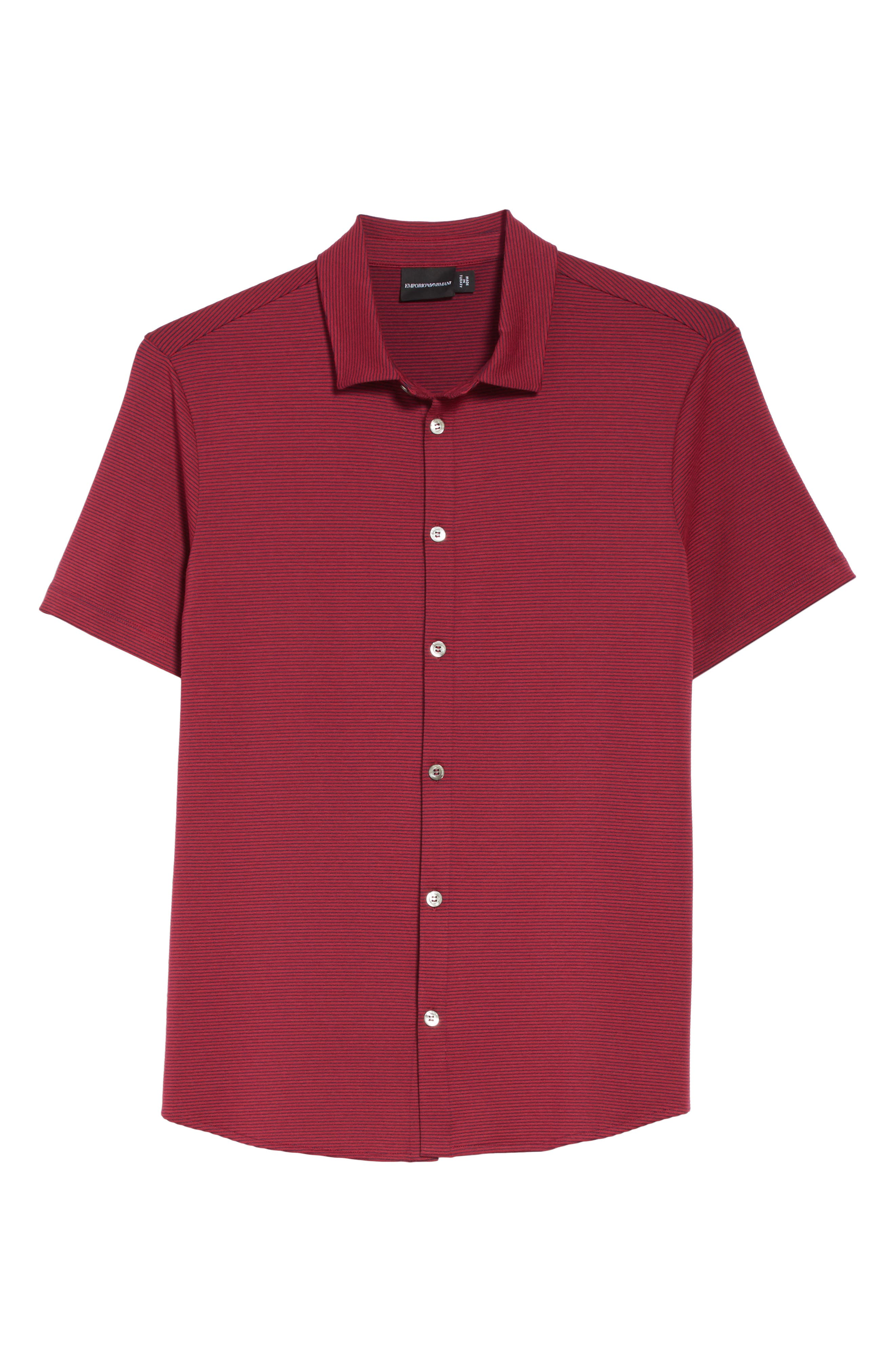 Slim Fit Knit Shirt,                             Alternate thumbnail 6, color,                             930